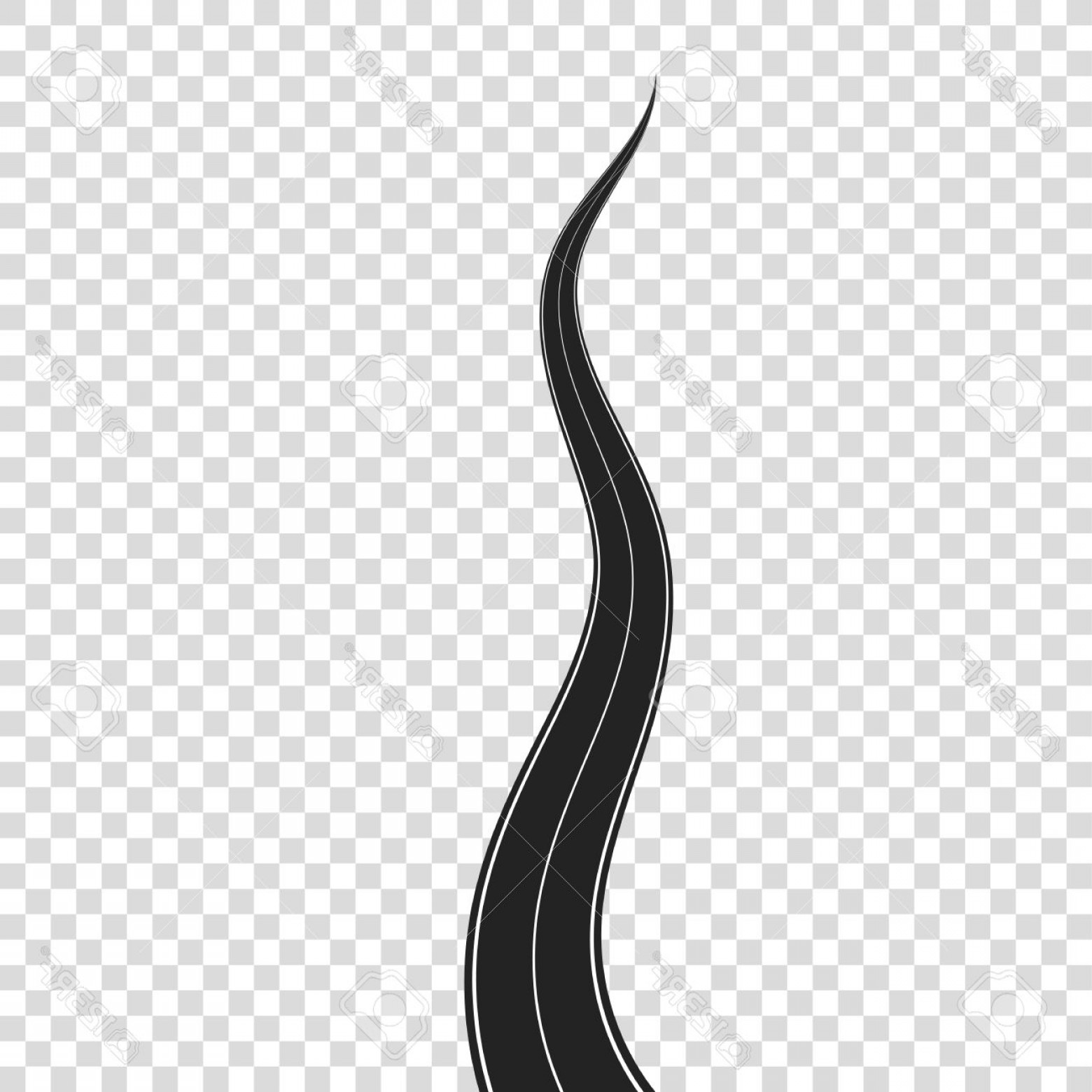 Transparent Curved Road Vector: Photostock Vector Curved Road On Transparent Background Highway With White Road Marking