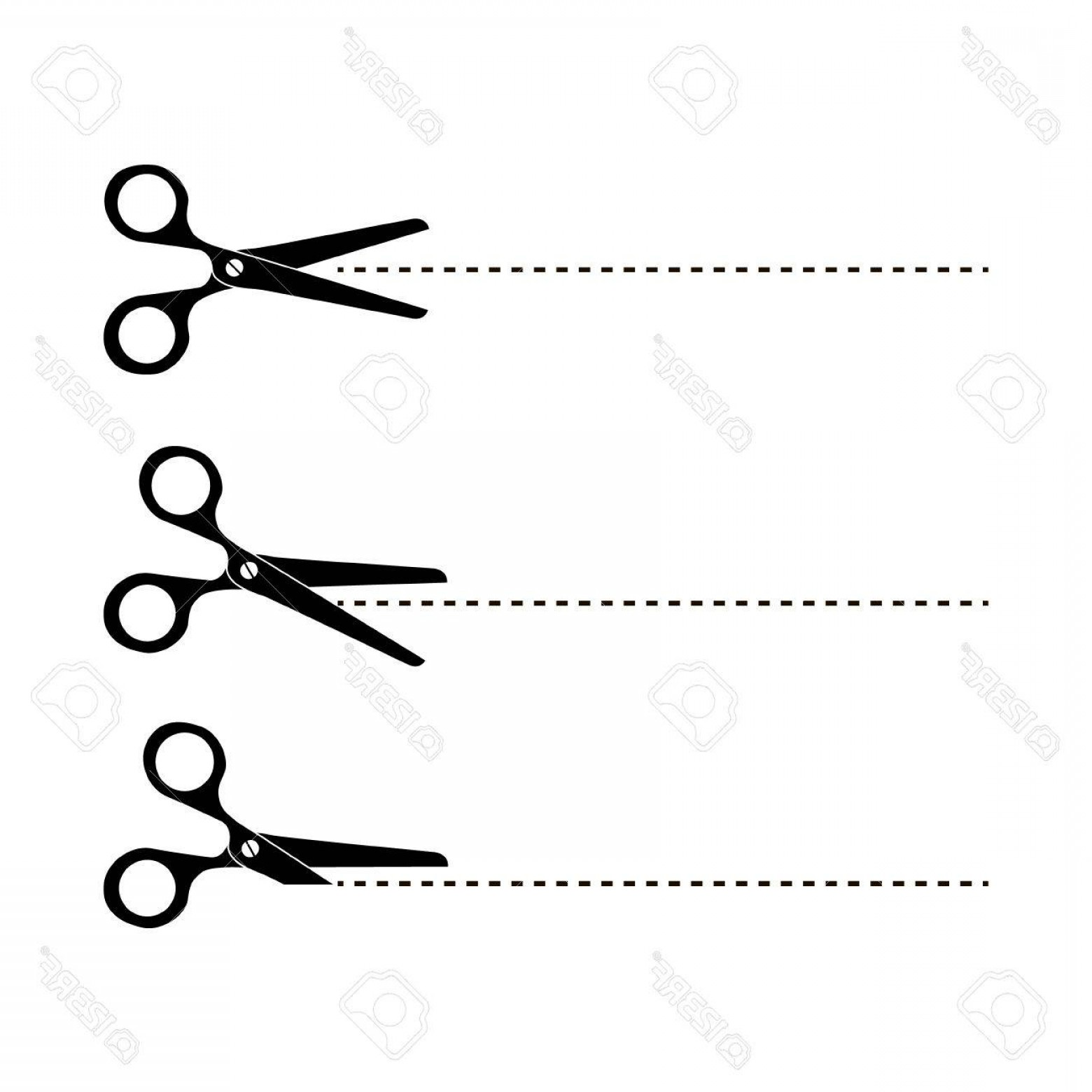 Cut Symbol Vector: Photostock Vector Cut Here Symbol Scissors And Dotted Line Cut Here Scissors