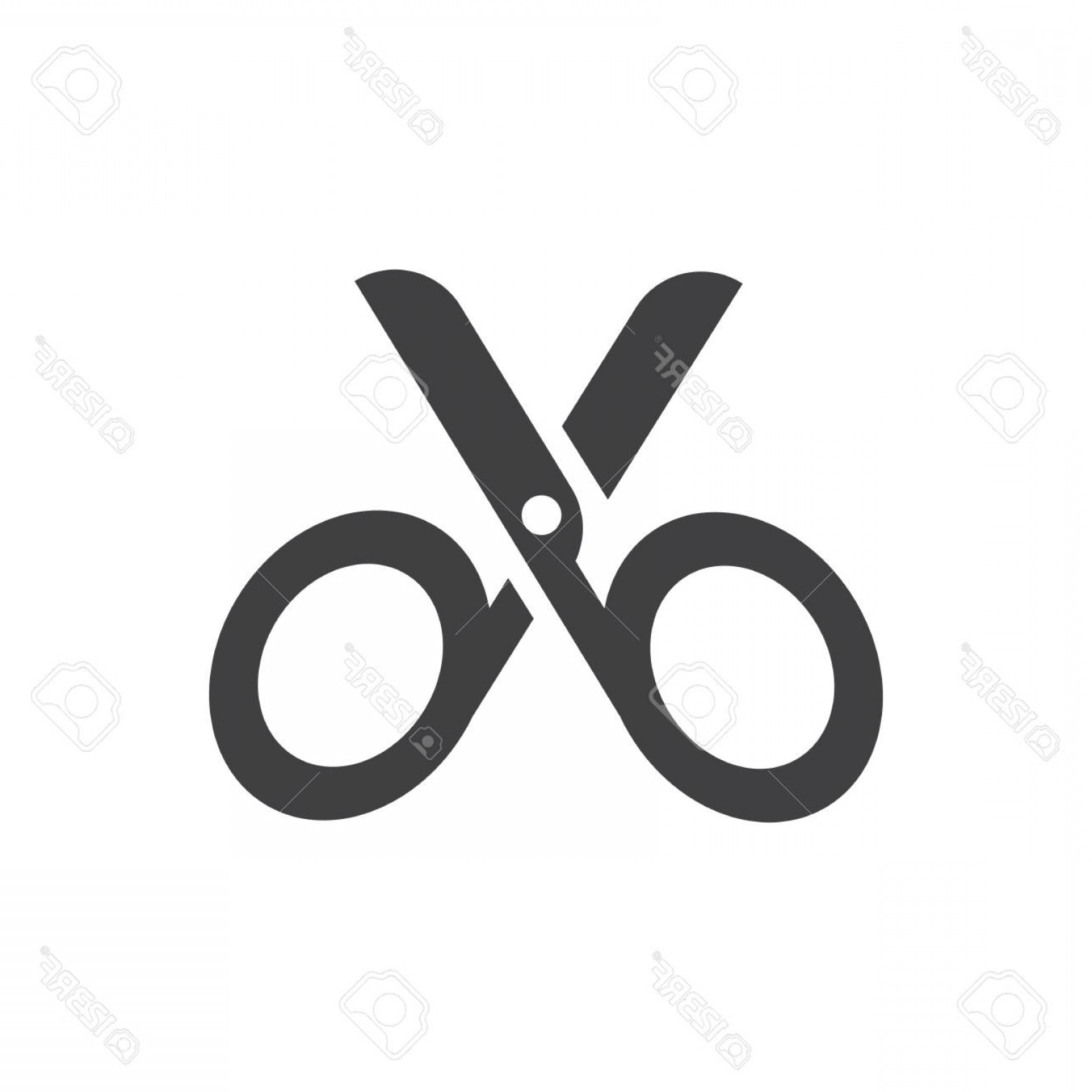 Cut Symbol Vector: Photostock Vector Cut Symbol Icon Vector