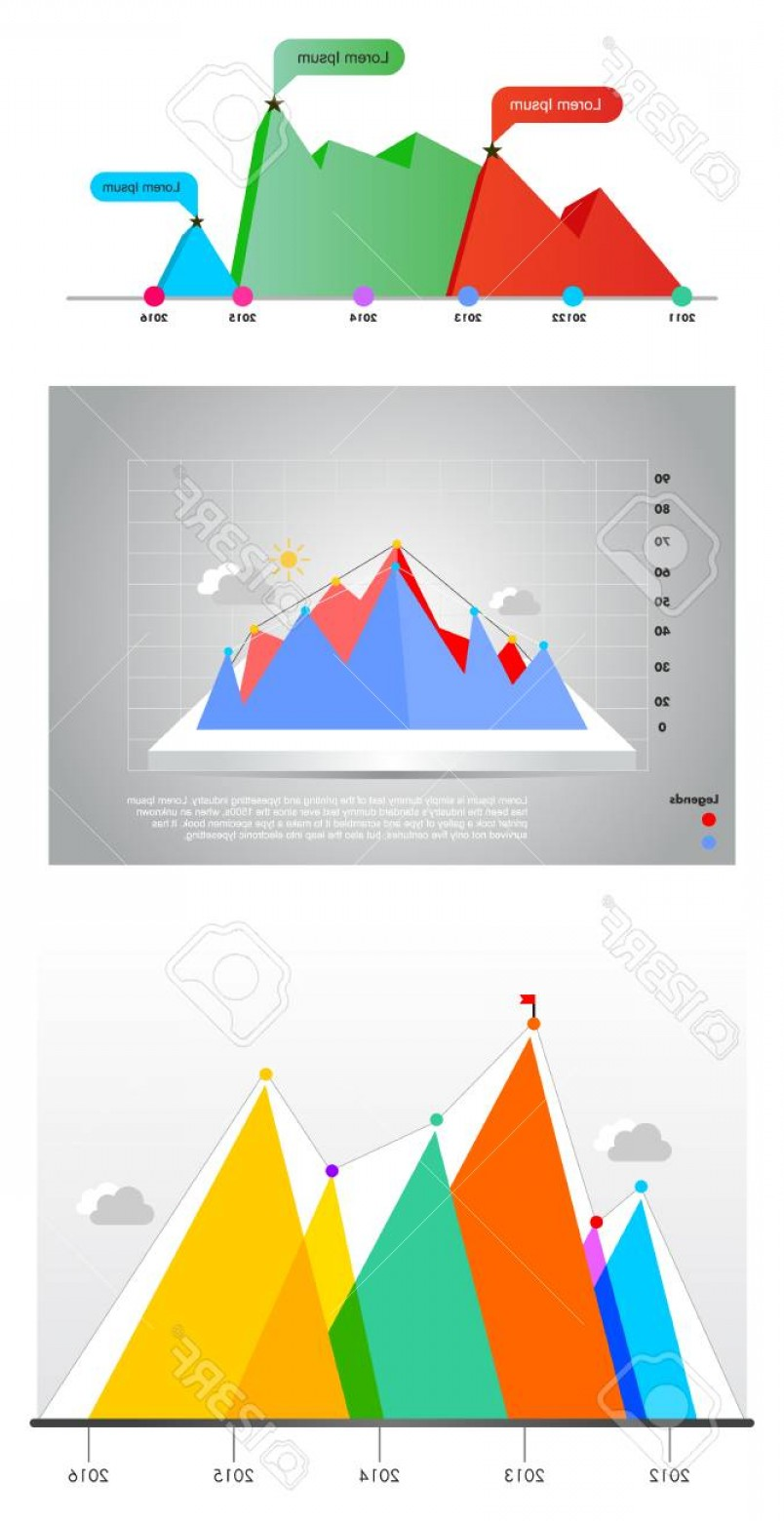 Vector 3D 2014: Photostock Vector D Graph Infographic Vector Illustrations