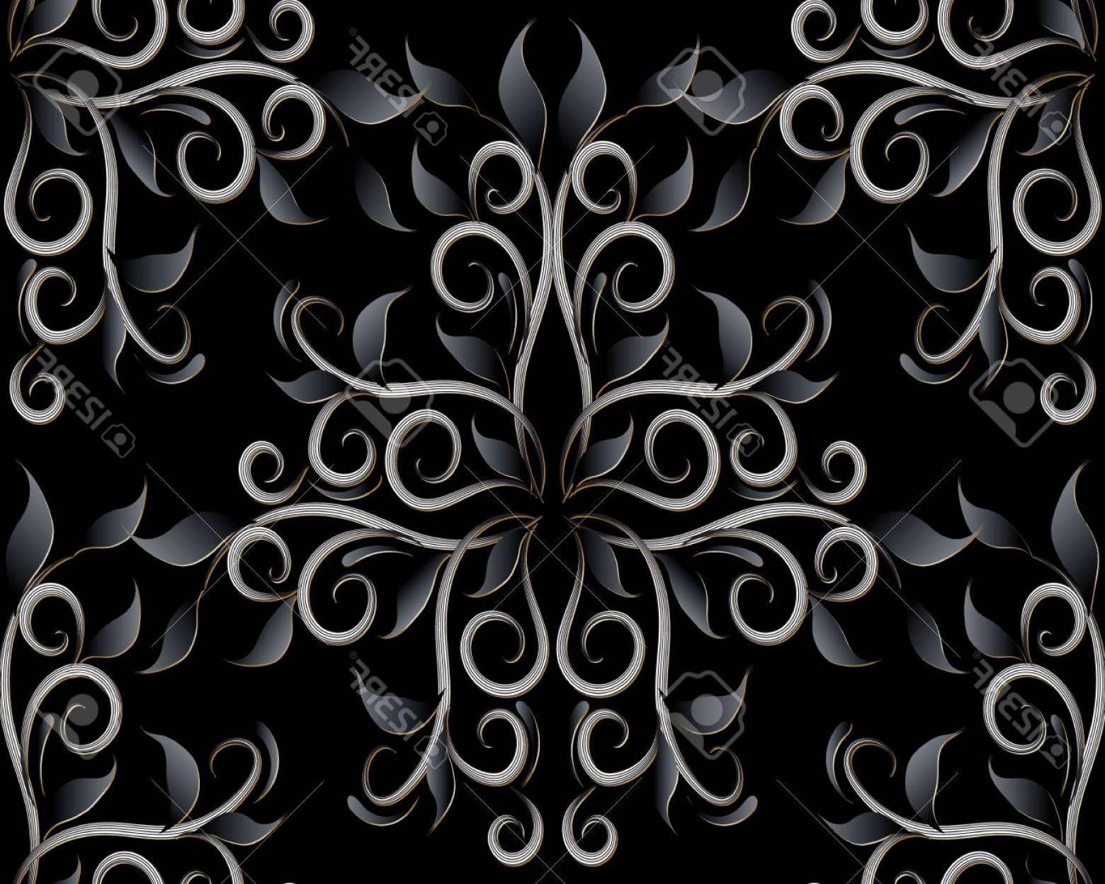 Vector Flourish Backgrounds: Photostock Vector Dark Black Floral D Seamless Pattern Vector Flourish Background Vintage Hand Drawn Black Flowers Le