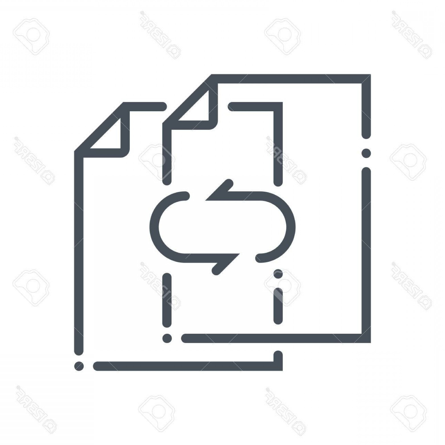 Vector Data Exchange: Photostock Vector Data Exchange Transfer Icon Suitable For Info Graphics Websites And Print Media And Interfaces Hand