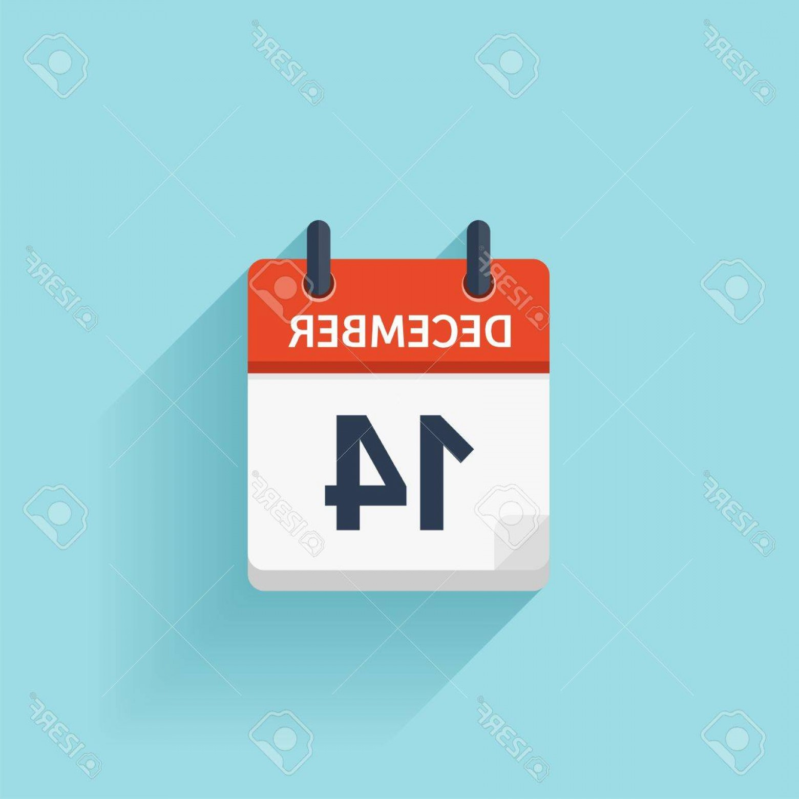 Vector Calendar Icon December 14th: Photostock Vector December Vector Flat Daily Calendar Icon Date And Time Day Month Holiday