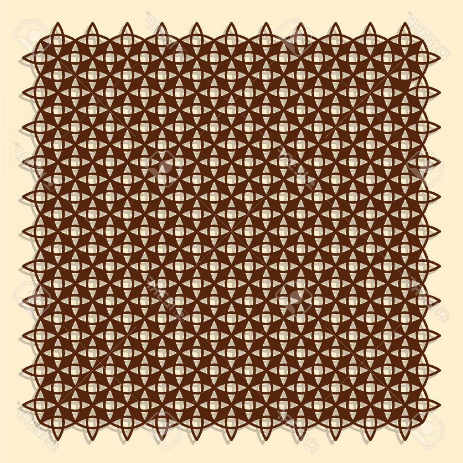 1-1 Vector: Photostock Vector Decorative Panel For Laser Cutting Linear Geometric Pattern The Ratio Is Vector Illustration