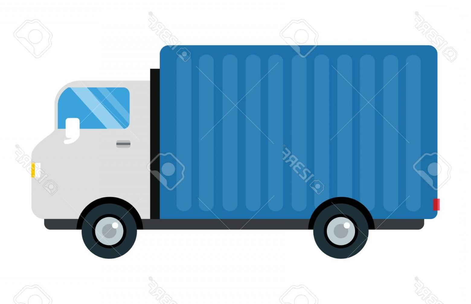 Packages On A Truck Vector: Photostock Vector Delivery Transport Cargo Truck Vector Illustration Trucking Car Trailer Transportation Delivery Busi