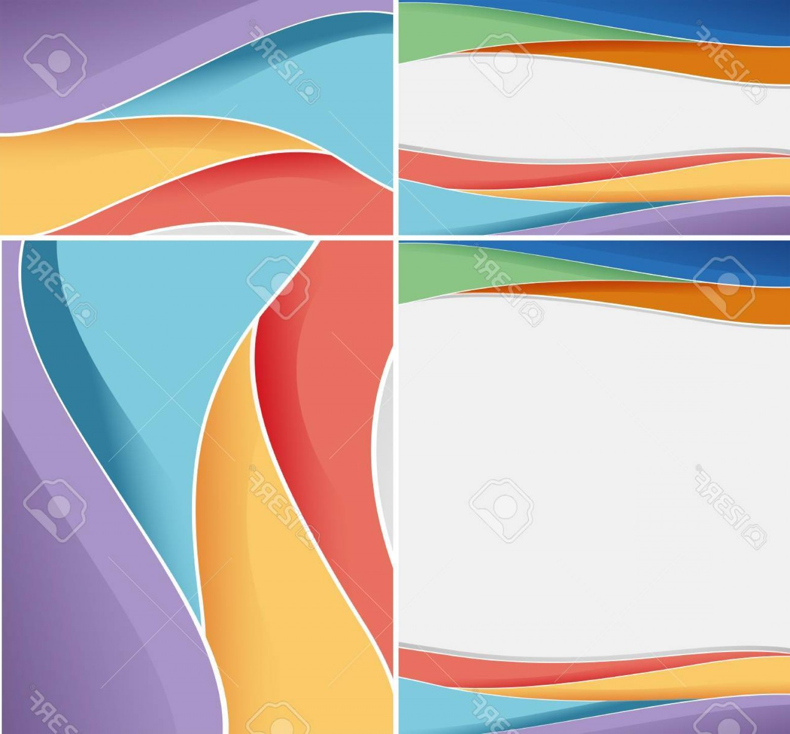 Wavy Line Illustrator Vector: Photostock Vector Different Abstract Background With Colorful Wavy Lines Illustration