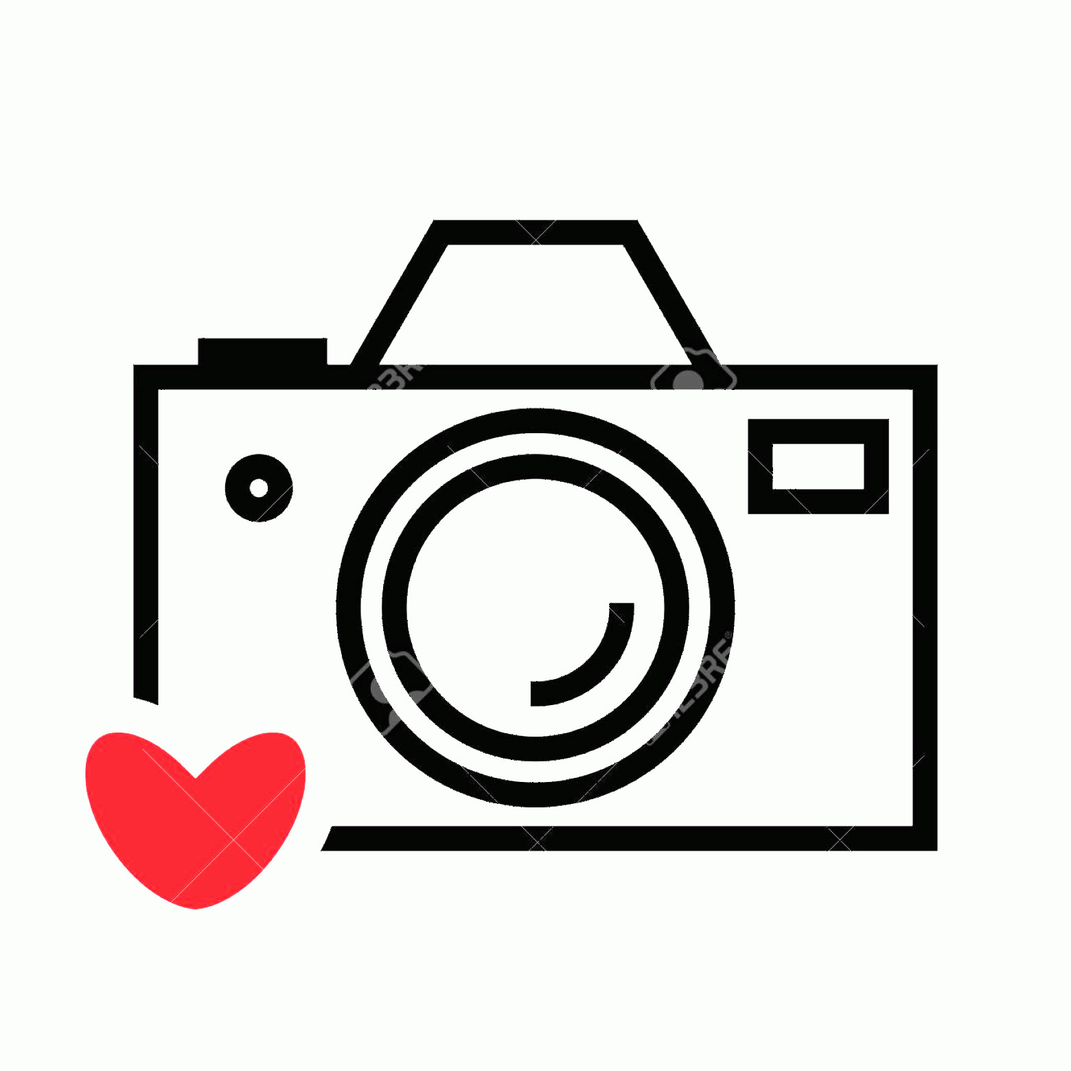 Camera Heart Clip Art Vector: Photostock Vector Digital Camera And Heart Vector Icon Snapshot Photography Sign Or Logo