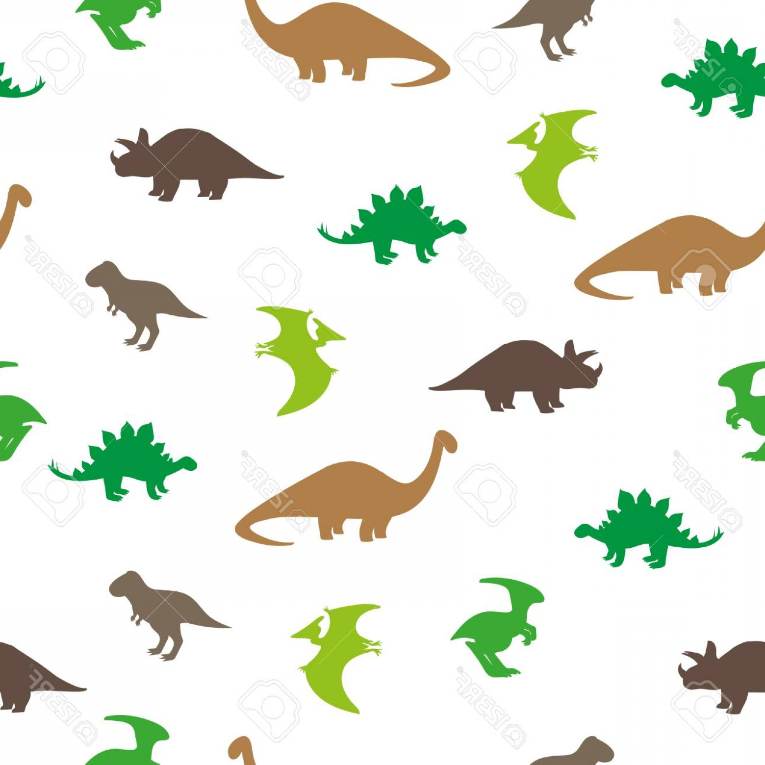 Vector Dinosorous: Photostock Vector Dinosaurs Seamless Pattern Silhouettes Of Dinosaurs Isolated On White Background Vector Wallpaper