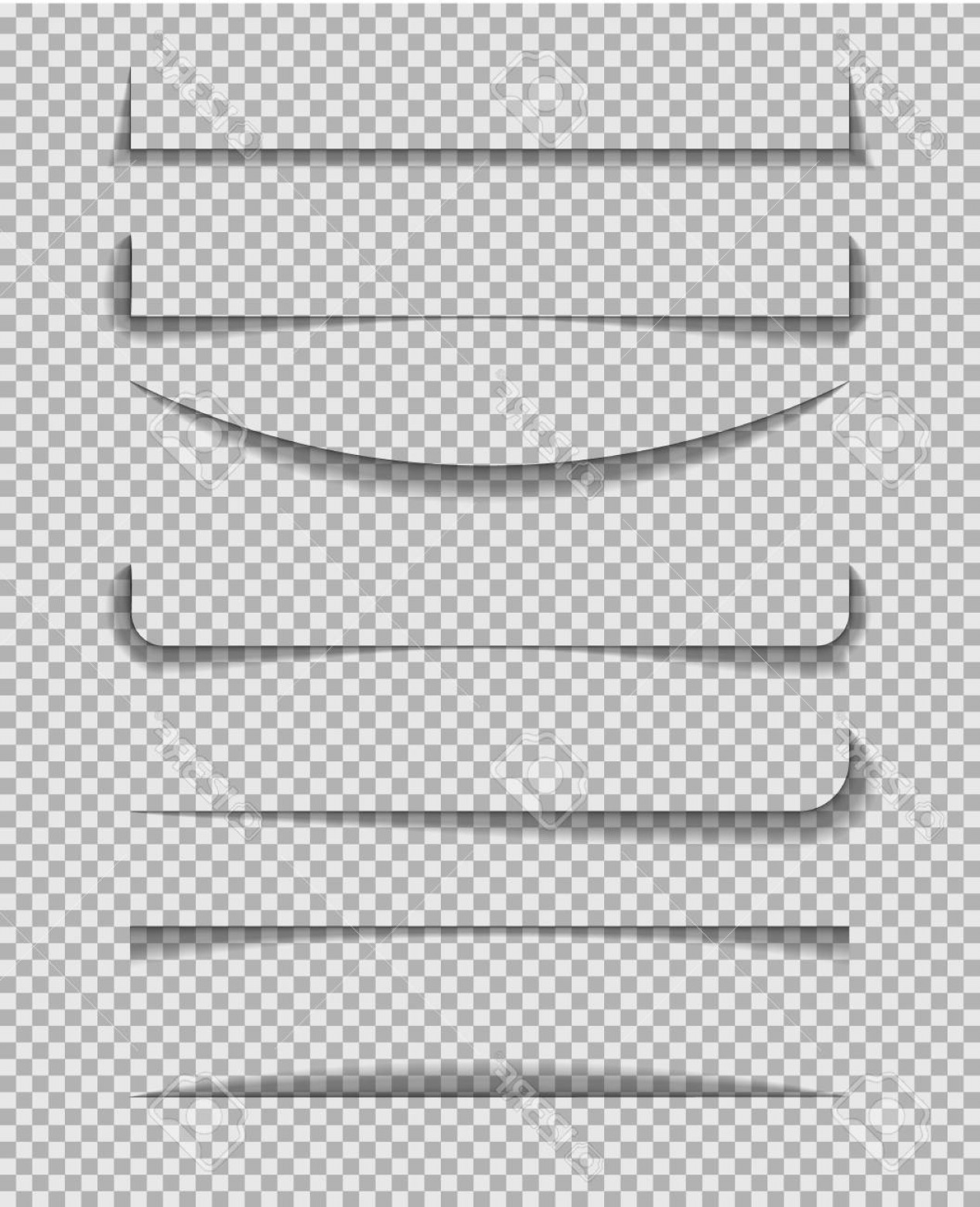 Vector Line Dividers Transparent Backgrounds: Photostock Vector Divider Shadow Line Frame Of Edge Of Paper On Transparent Background Paper Line With Shadow For Bann