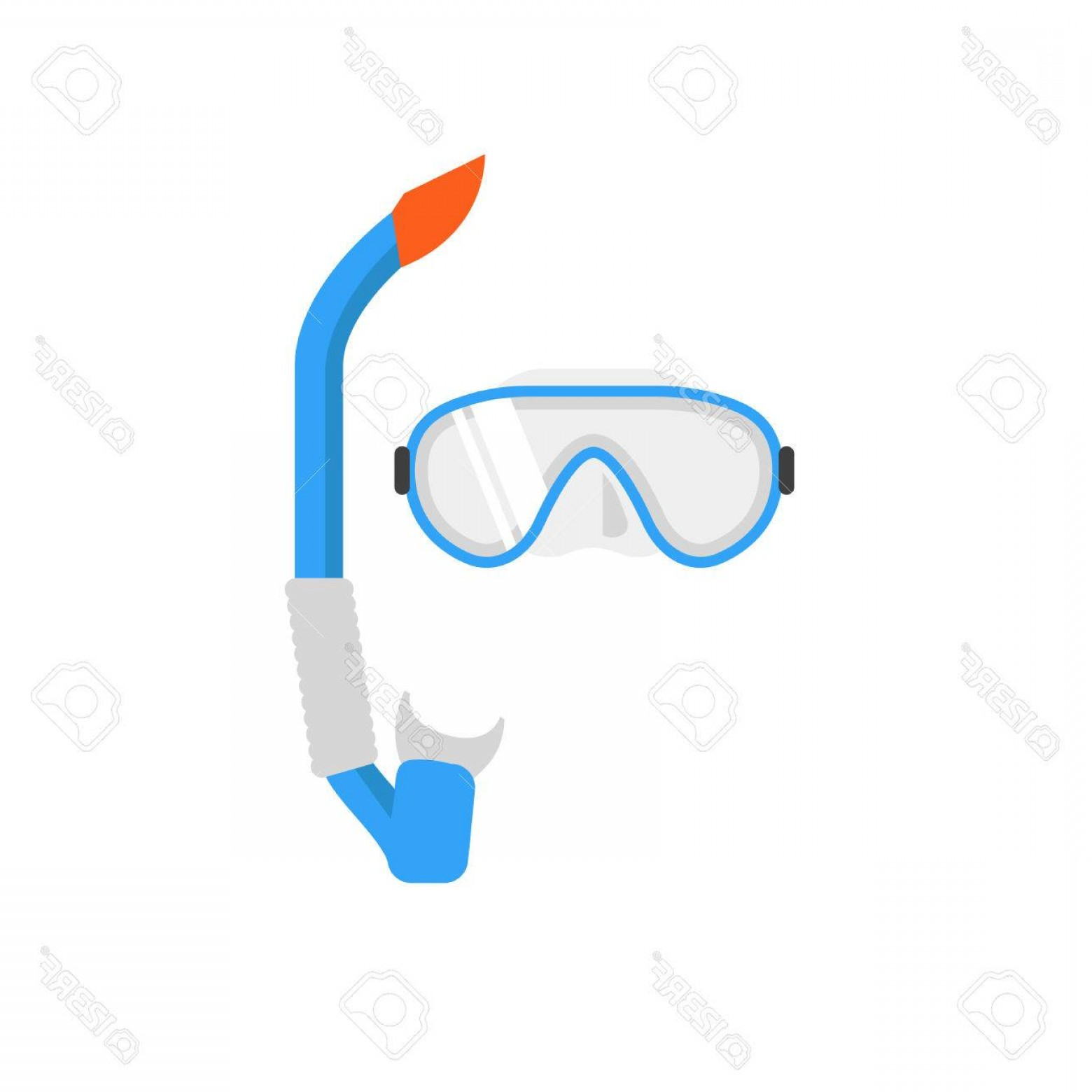 Dive Mask E Vectors: Photostock Vector Diving Mask And Snorkel Vector Illustration Swimming Mask Diving Equipment Vector Sign Summer Swimmi