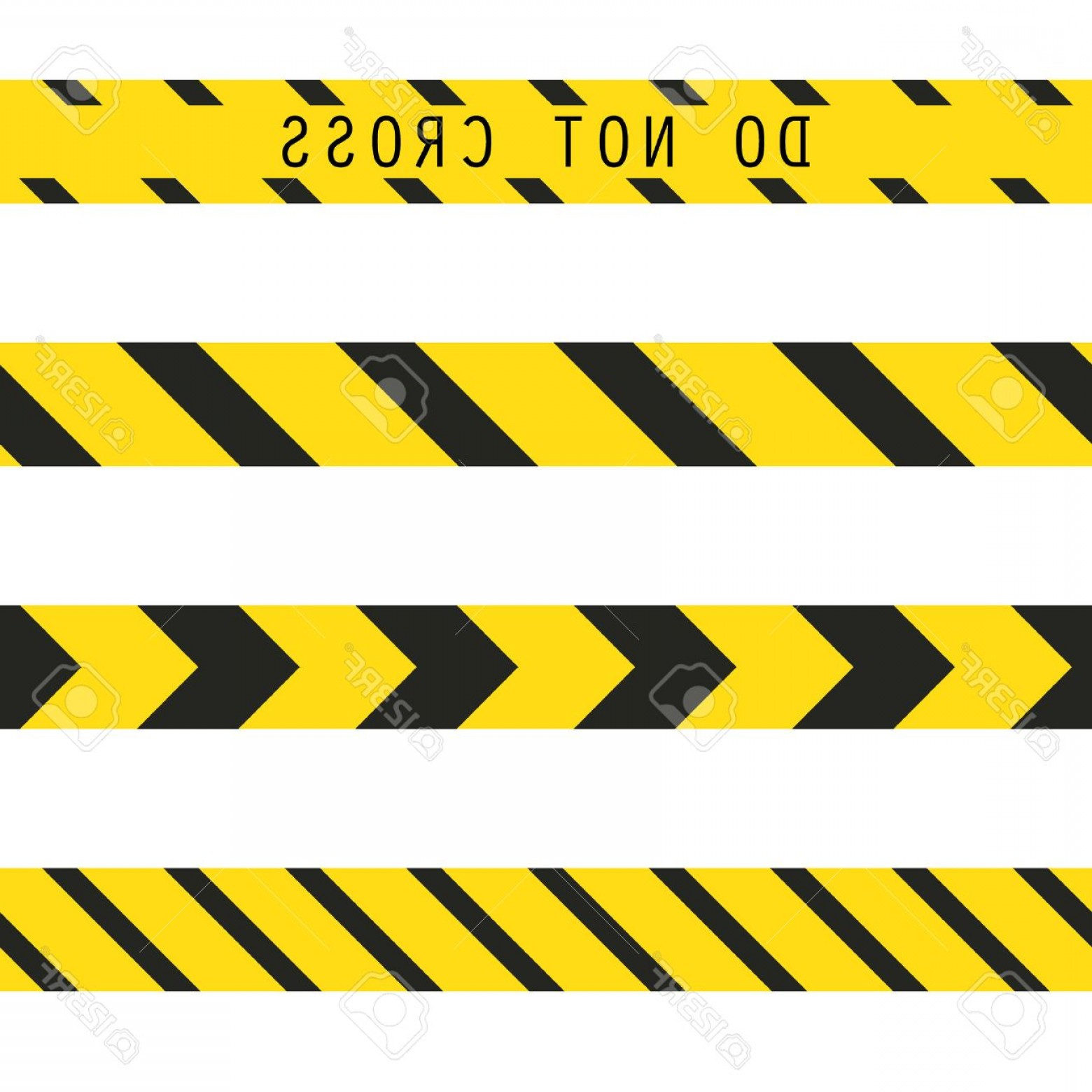 Caution Stripes Vector: Photostock Vector Do Not Cross The Line Caution Vector Tape Seamless Police Warning Tape Set Prohibiting Yellow Lines