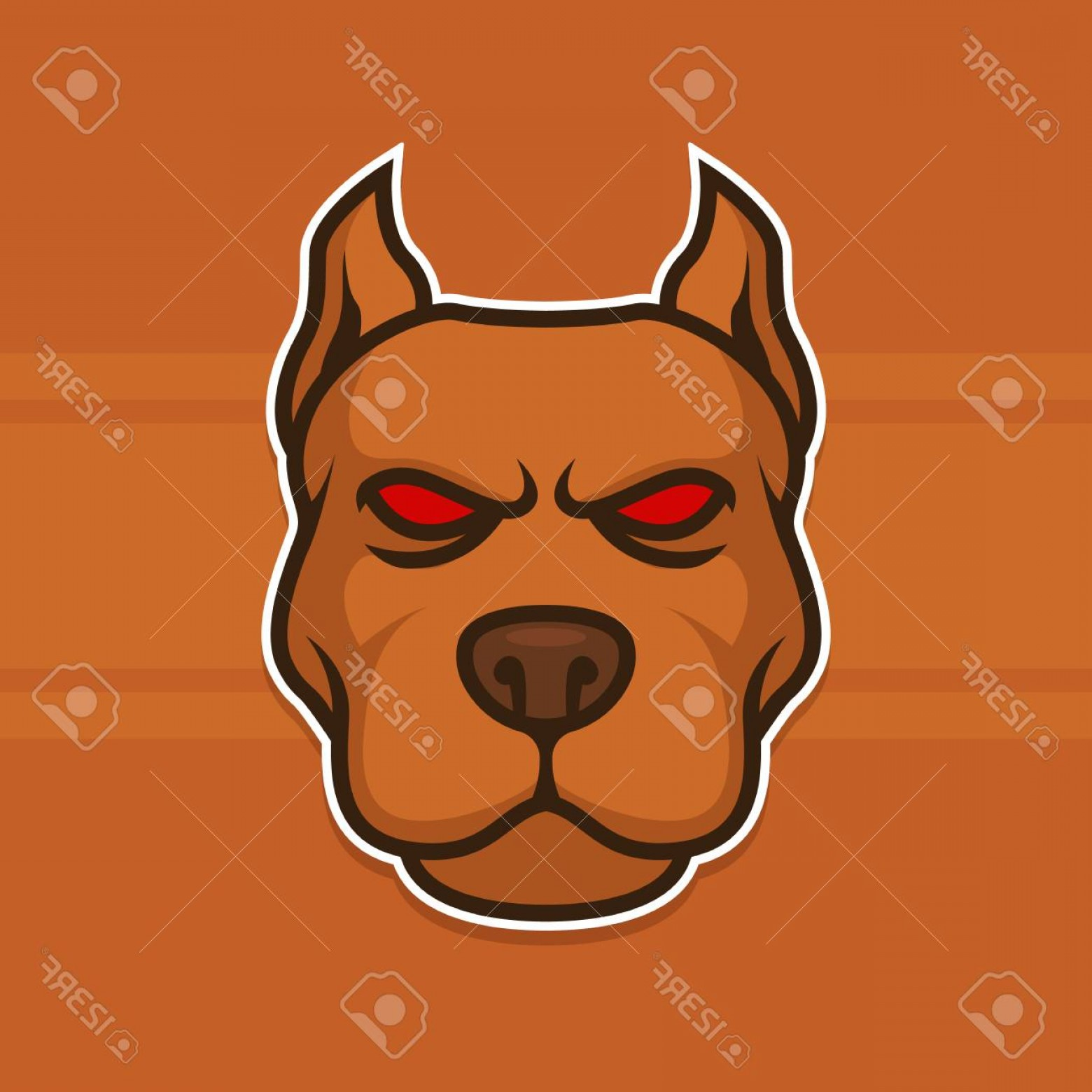 Dog Mascot Vector: Photostock Vector Dog Head Pit Bull Animal Wild Vector Illustration Logo Mascot