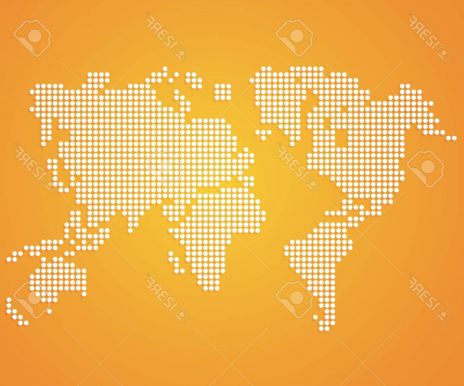 BG Vector Map: Photostock Vector Dot World Maps And Globes On Orange Color Background Vector