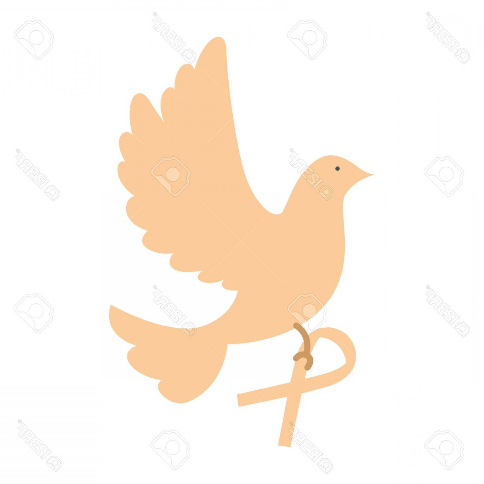 Thrasher Vector: Photostock Vector Dove Of Peace Flying With Ribbon Vector Illustration Design