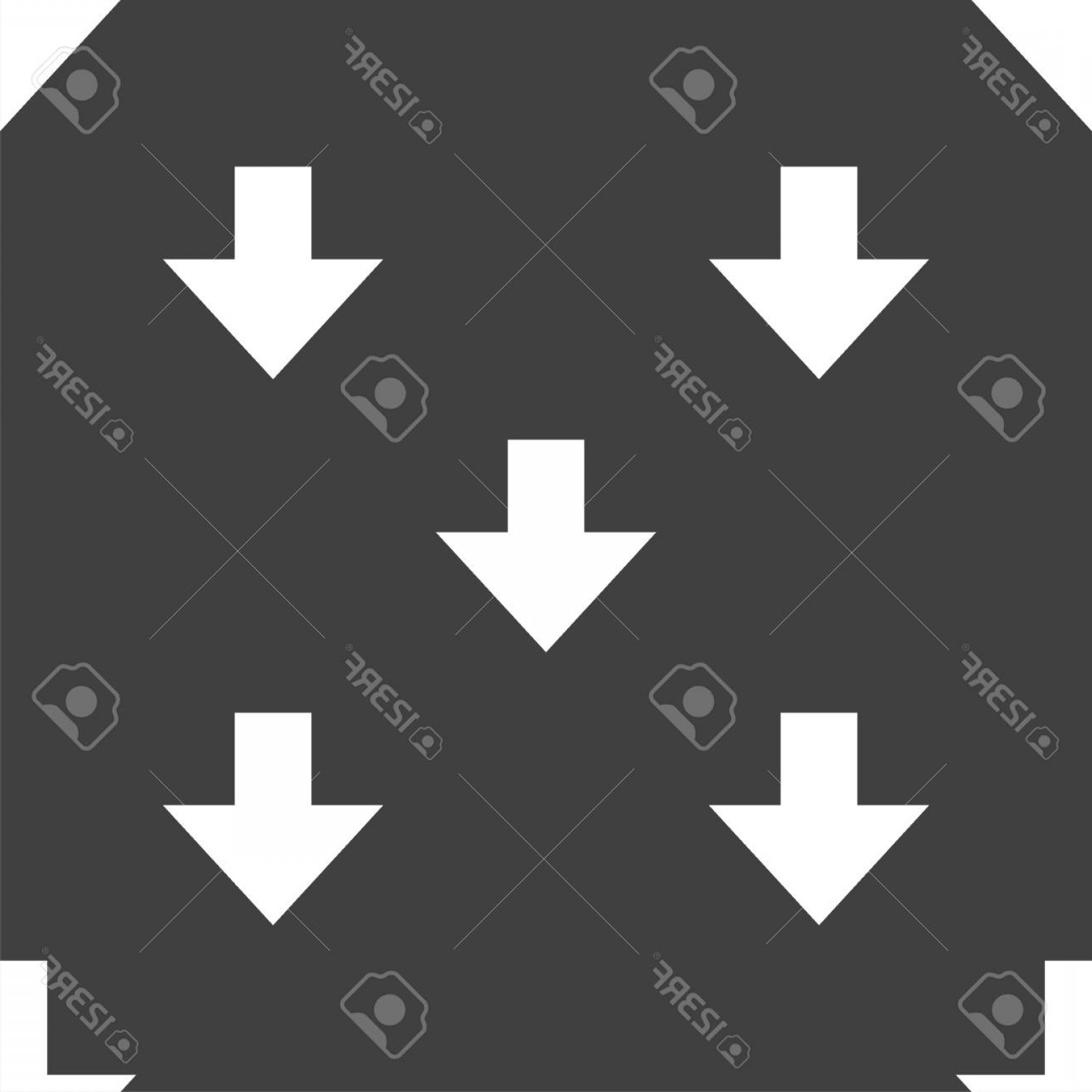 Downloadable Vector Cross: Photostock Vector Download Sign Downloading Flat Icon Load Label Seamless Pattern On A Gray Background Vector Illustra