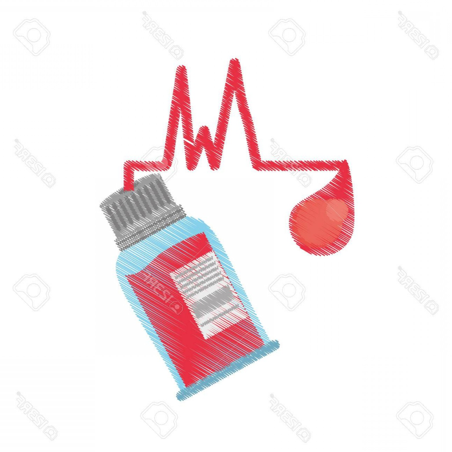 Charity Meter Vector: Photostock Vector Drawing Bottle Blood Sample Donation Day Vector Illustration Eps