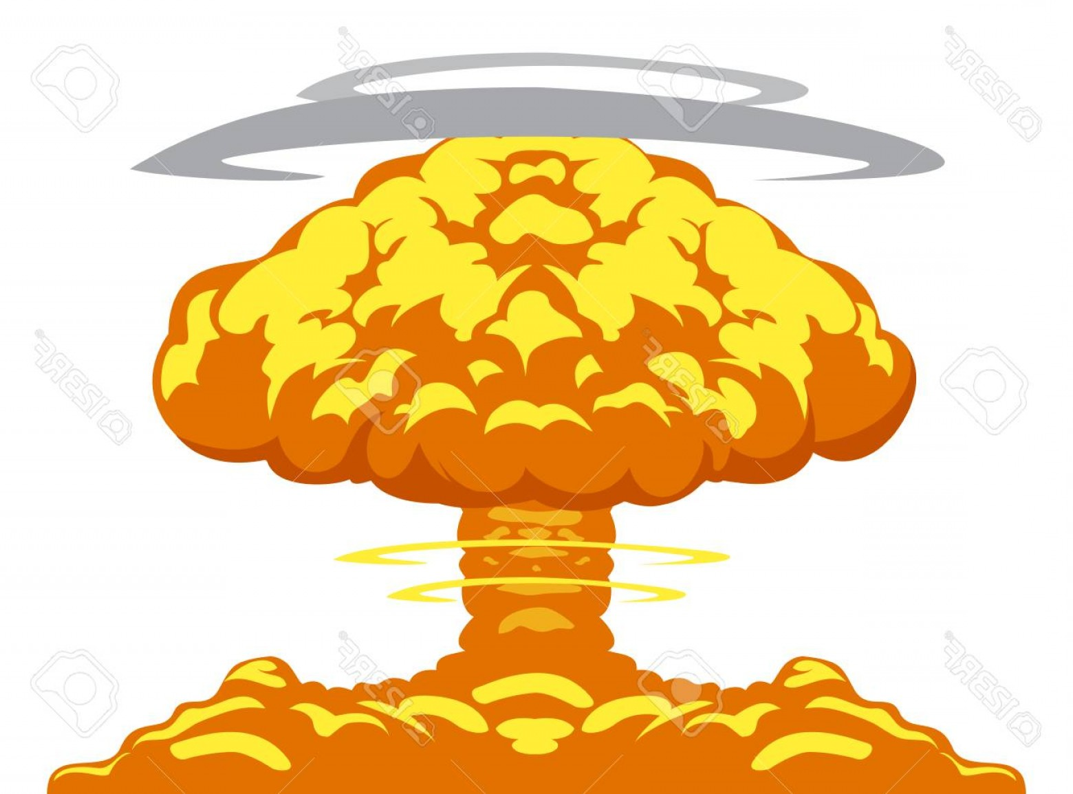 Atomic Bomb Explosion Vector: Photostock Vector Easy Image Of Detonation And Atom Bomb Explosion On The World