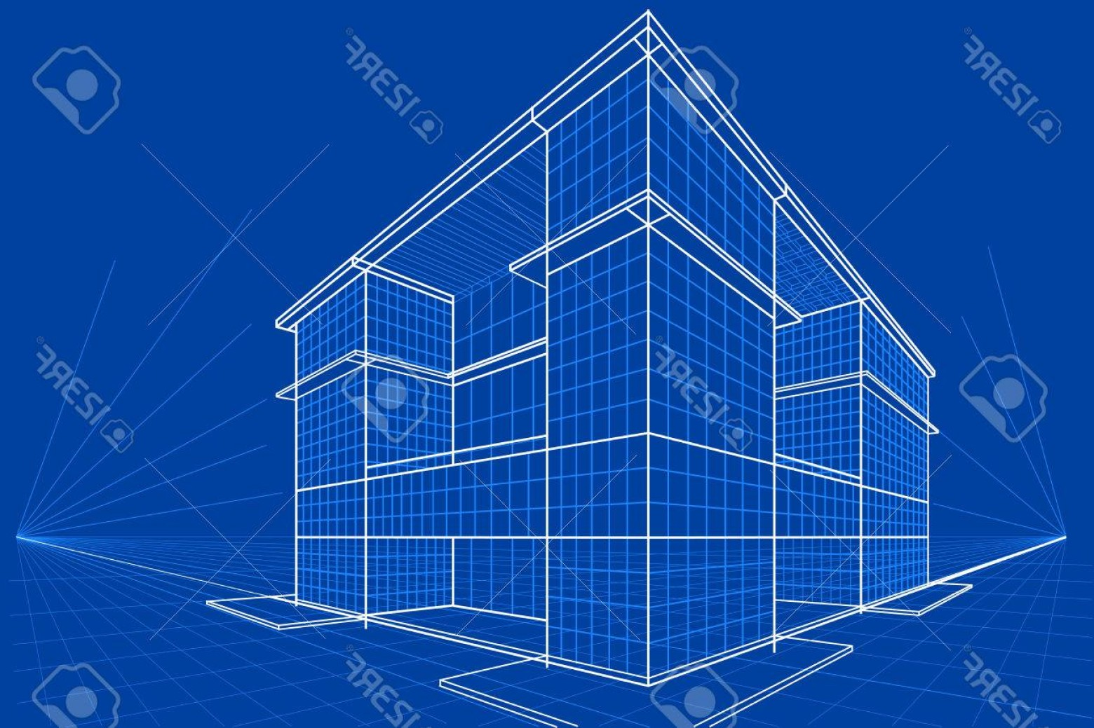 Photostock vector easy to edit vector illustration of blueprint of blue print vectors photostock vector easy to edit vector illustration of blueprint of building malvernweather Choice Image
