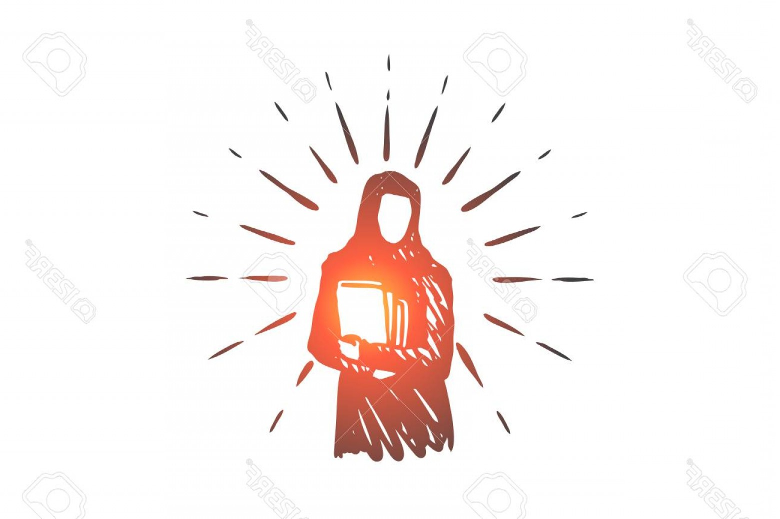Boba Fett Silhouette Vector: Photostock Vector Education Student Muslim Arabic Islam Library Concept Hand Drawn Silhouette Of Muslim Woman With Boo