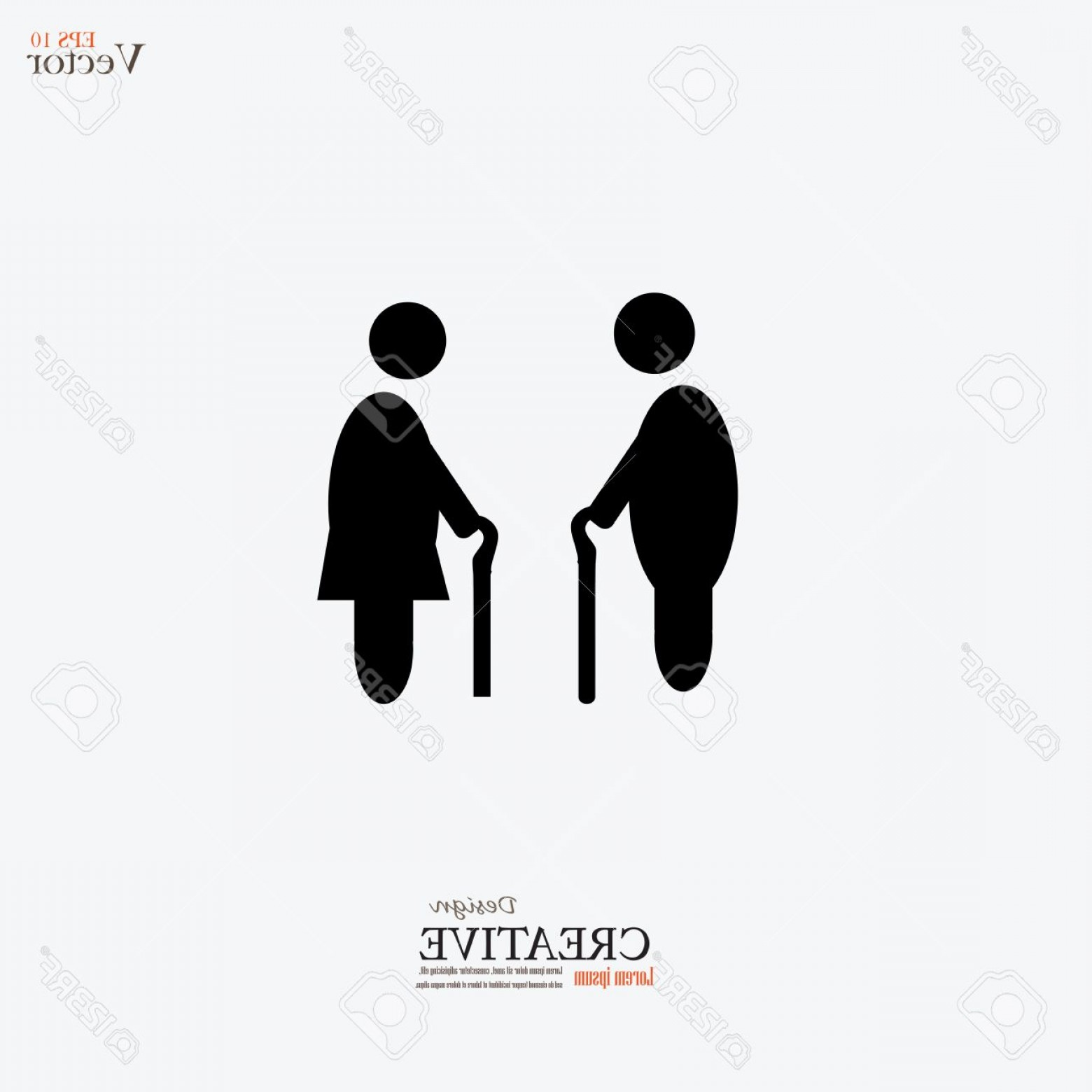 Old Male Icon Vector: Photostock Vector Elder Icon Old Man