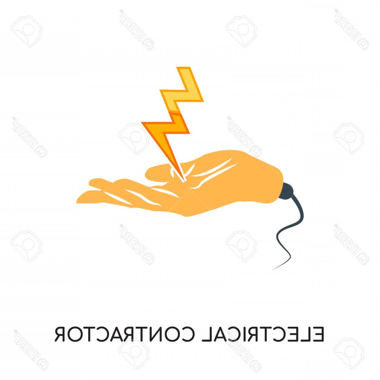 General Contractor Vector: Photostock Vector Electrical Contractor Logo Isolated On White Background For Your Web Mobile And App Design