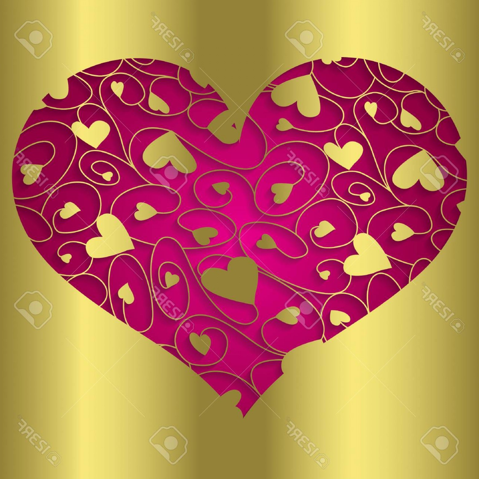 Vector Filigree Heart: Photostock Vector Elegant Cut Out Filigree Heart In Vector Format