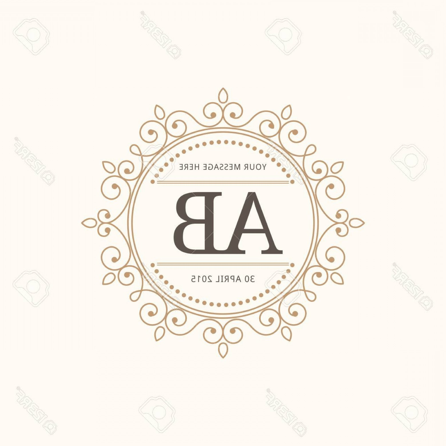 Elegant Wedding Vector Graphics: Photostock Vector Elegant Vintage Monogram Design Template For One Or Two Letters Wedding Monogram Calligraphic Elegan