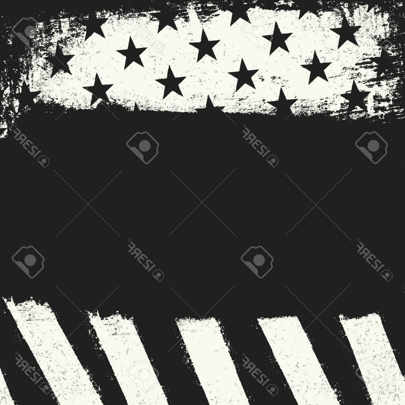 Black And White Negative Vector: Photostock Vector Empty Black Grunge Copy Space On Black And White Negative American Flag Background Patriotic Design
