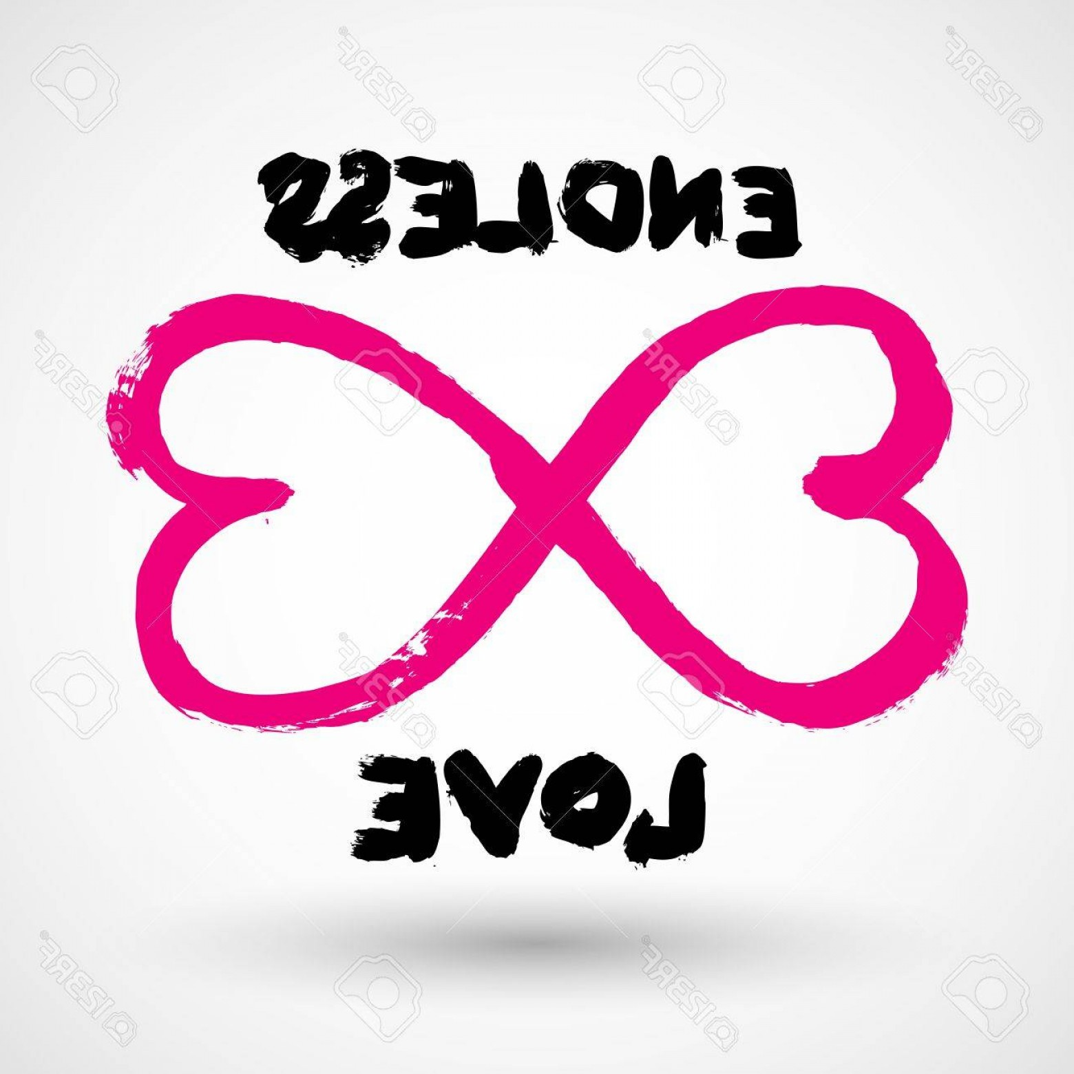 Infinity Grunge Heart Vector: Photostock Vector Endless Love Grunge Infinity Symbol
