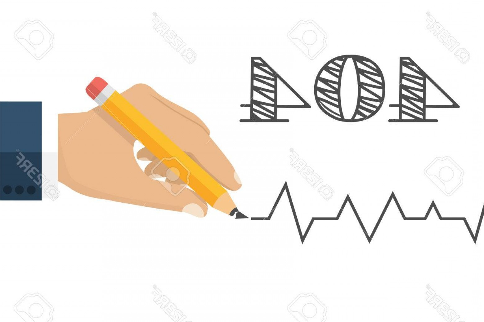 Broken Pencil Vector: Photostock Vector Error Page Not Found Connection Error Broken Pencil In A Man S Hand As A Symbol Of Failure Vecto