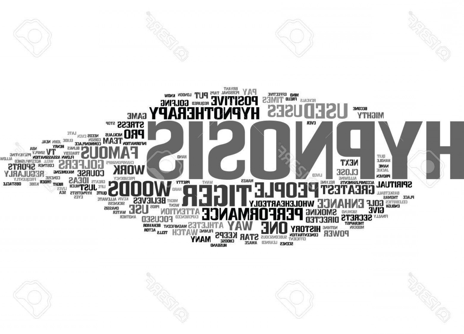 Vector Word Famous: Photostock Vector Even Famous People Use Hypnosis Text Background Word Cloud Concept