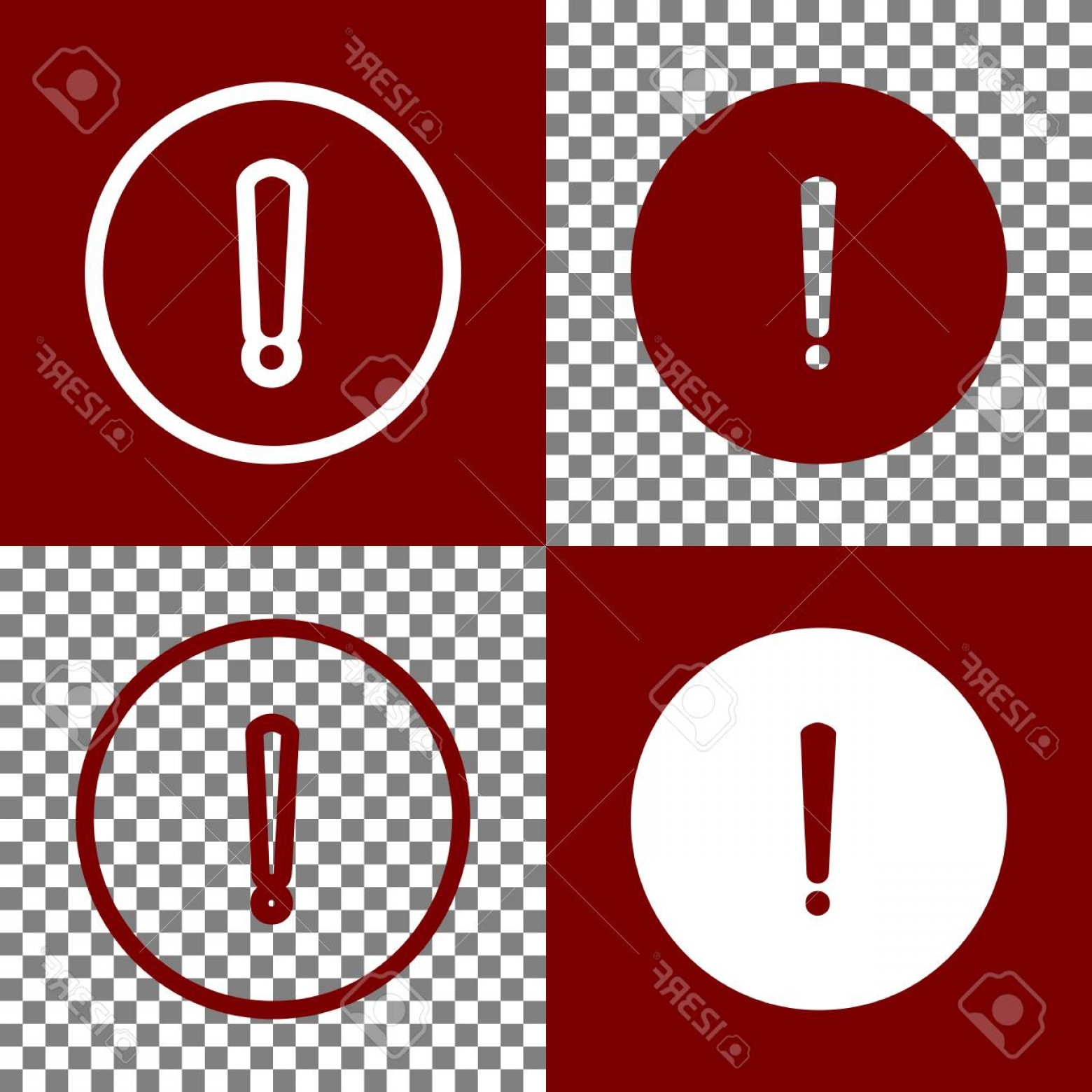 Subtracting Vectors BA: Photostock Vector Exclamation Mark Sign Vector Bordo And White Icons And Line Icons On Chess Board With Transparent Ba