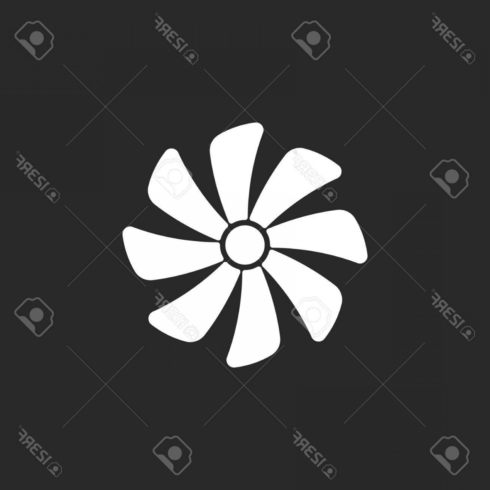 Vector Exhaust Fan: Photostock Vector Exhaust Fan Air Conditioning Sign Simple Icon On Background