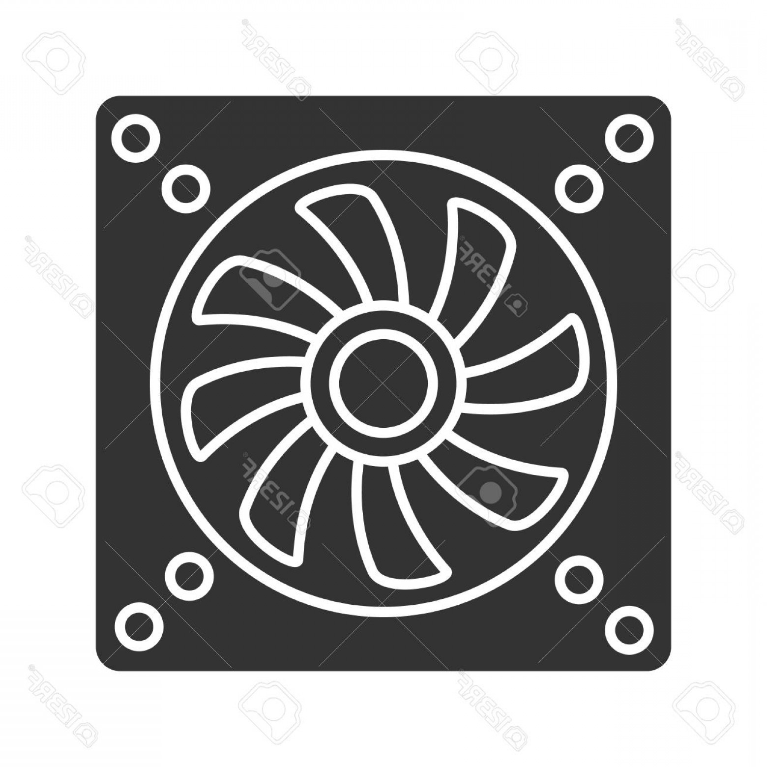 Vector Exhaust Fan: Photostock Vector Exhaust Fan Glyph Icon Conditioning Silhouette Symbol Air Ventilation Negative Space Vector Isolated