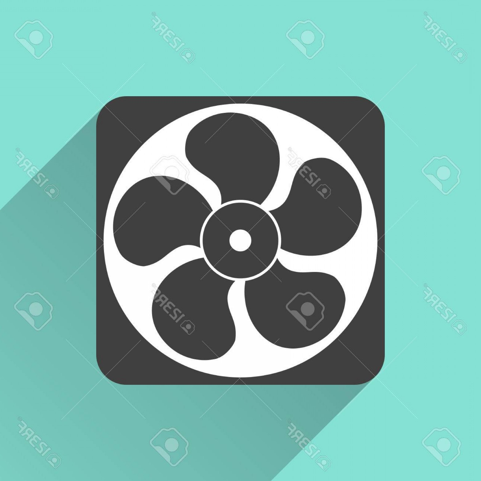Vector Exhaust Fan: Photostock Vector Exhaust Fan Icon On A Green Background Vector Illustration Flat Design