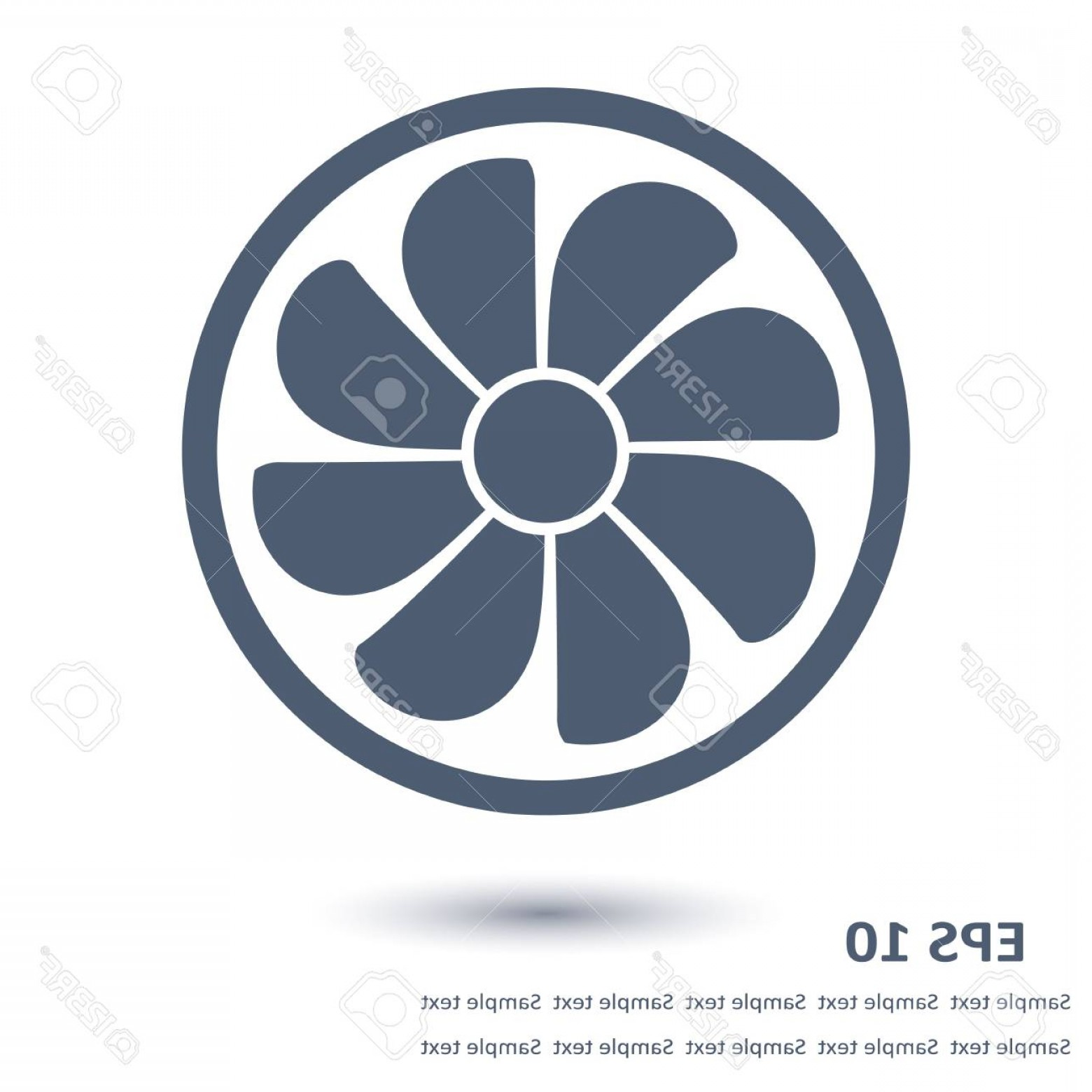 Vector Exhaust Fan: Photostock Vector Exhaust Fan Icon Ventilator Symbol Flat Design Style