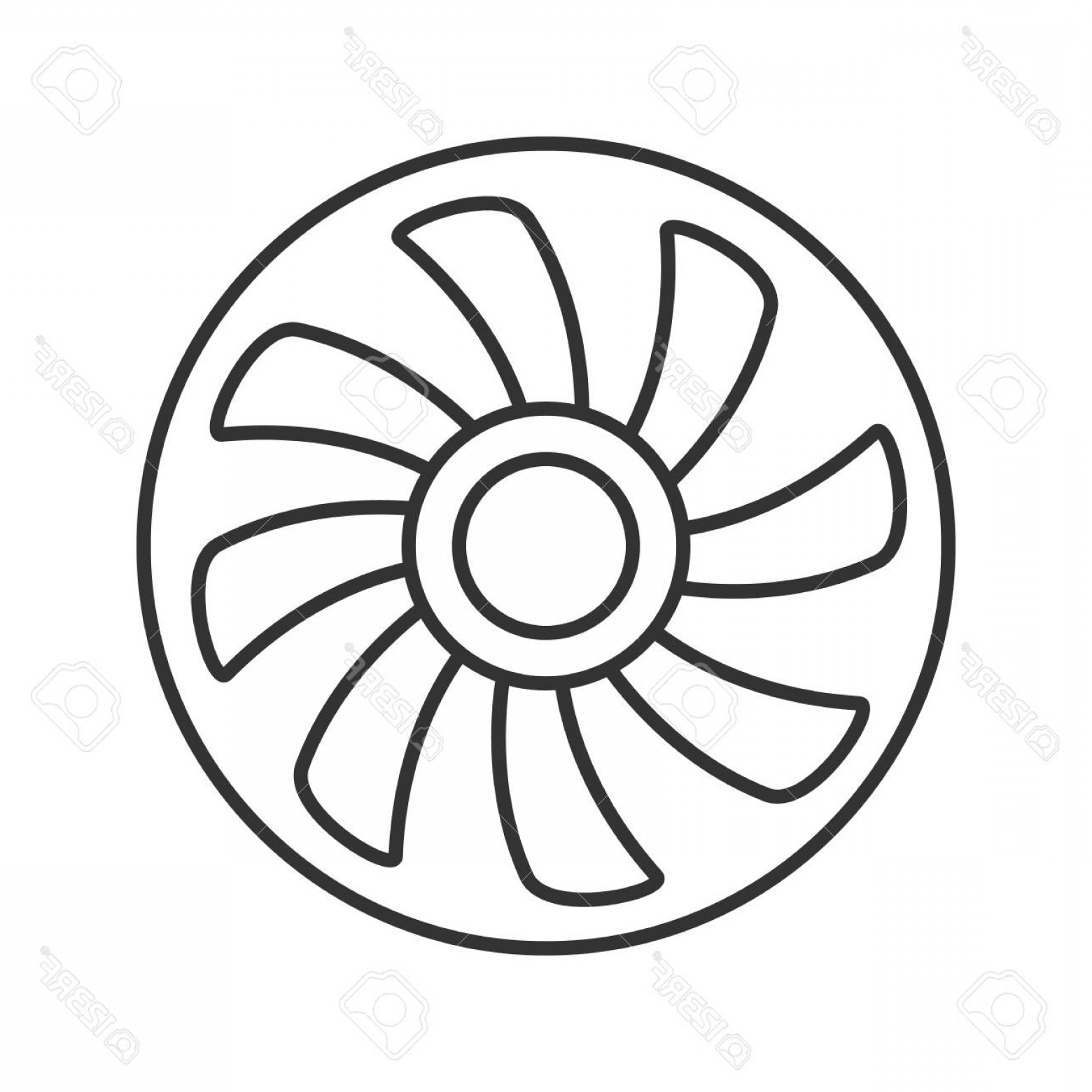 Vector Exhaust Fan: Photostock Vector Exhaust Fan Linear Icon Thin Line Illustration Air Ventilation Contour Symbol Vector Isolated Outlin