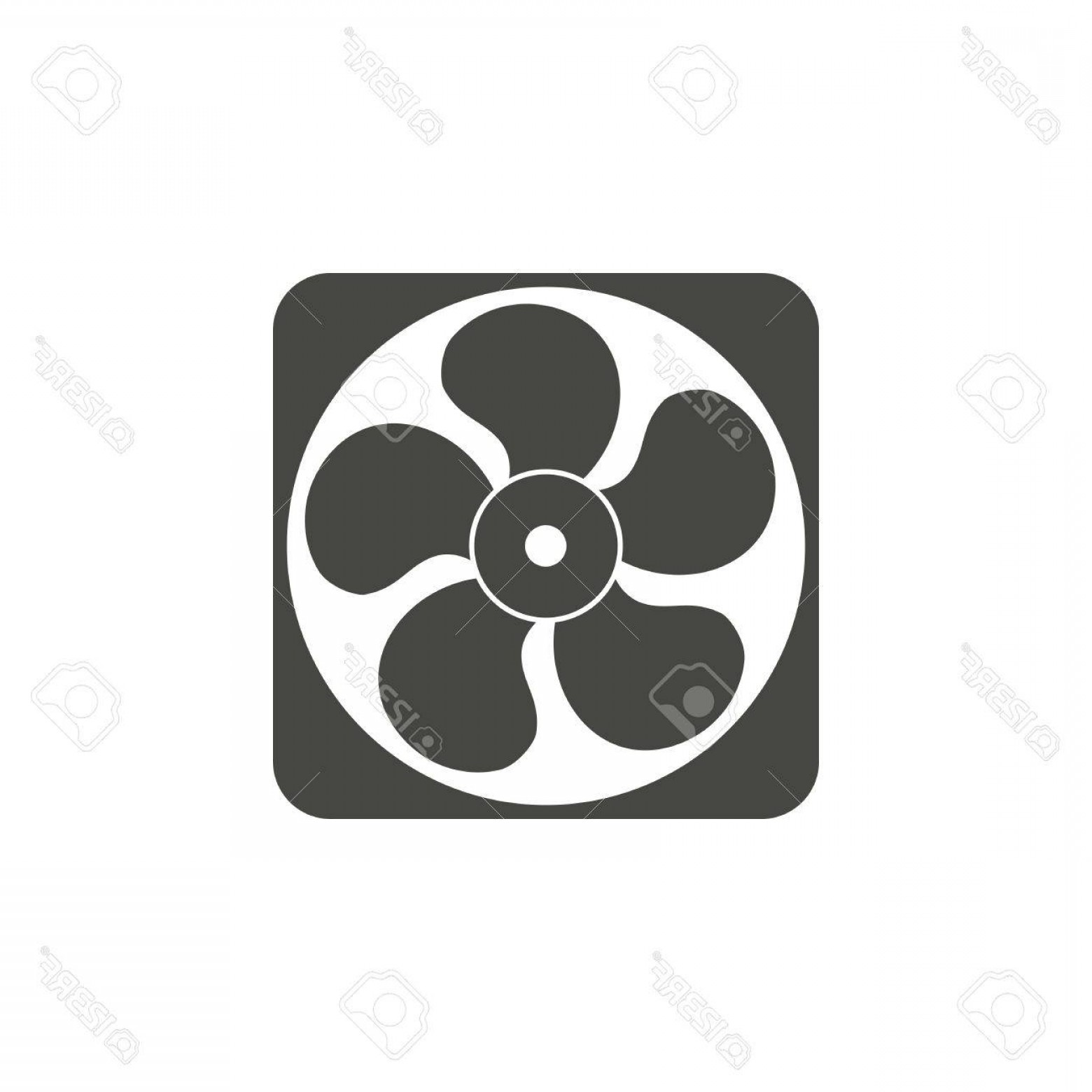 Vector Exhaust Fan: Photostock Vector Exhaust Fan Vector Icon In Black On A White Background
