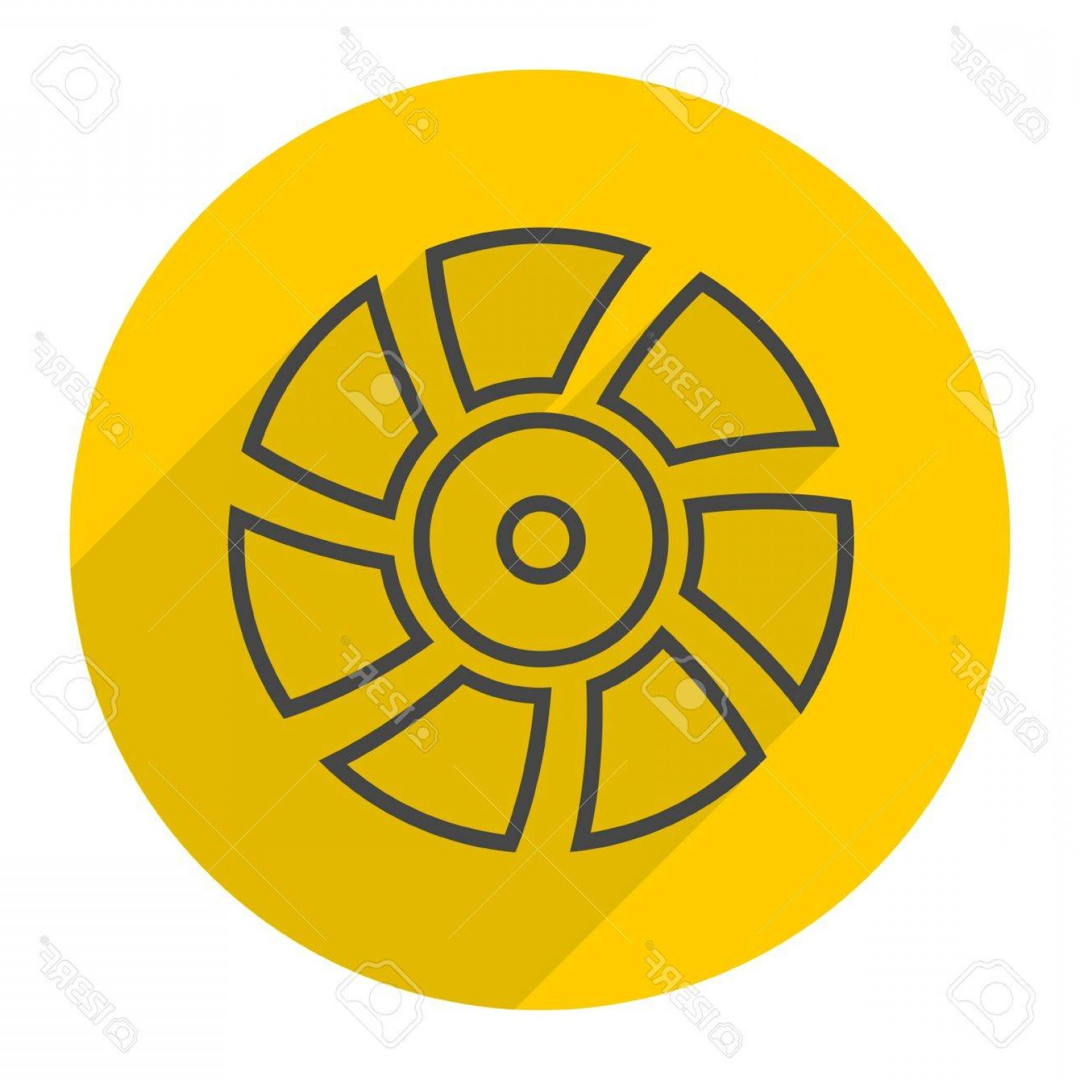 Vector Exhaust Fan: Photostock Vector Exhaust Fan Vector Icon With Long Shadow