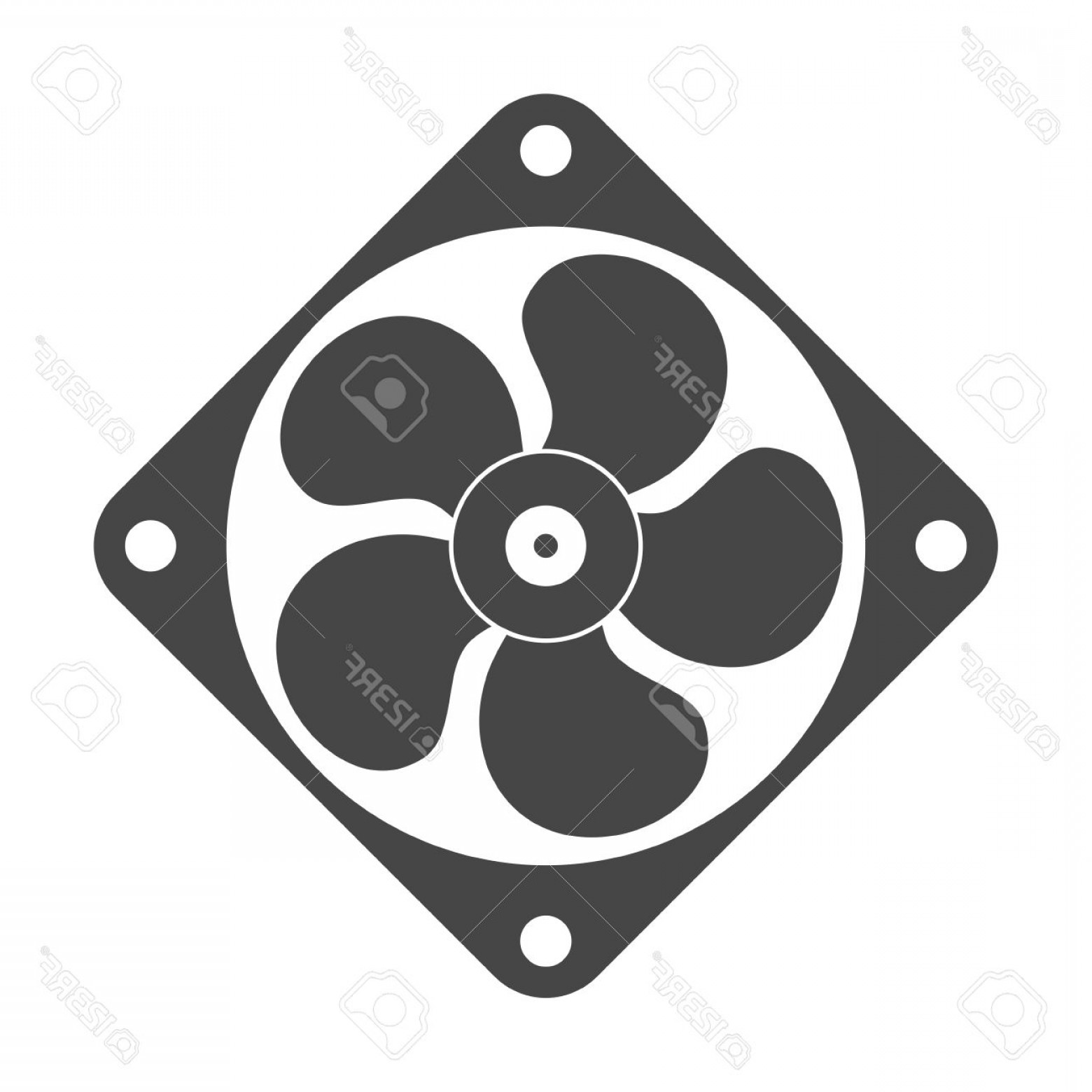 Vector Exhaust Fan: Photostock Vector Exhaust Fan Vector Icon
