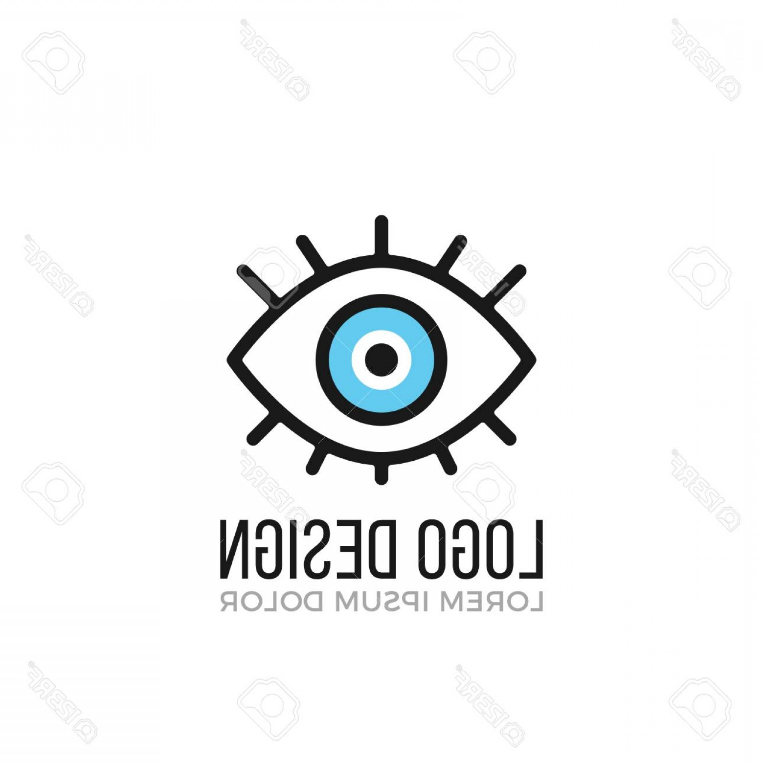Eye Vector Logo: Photostock Vector Eye Logo Design Concept Eye Icon Vector Logo