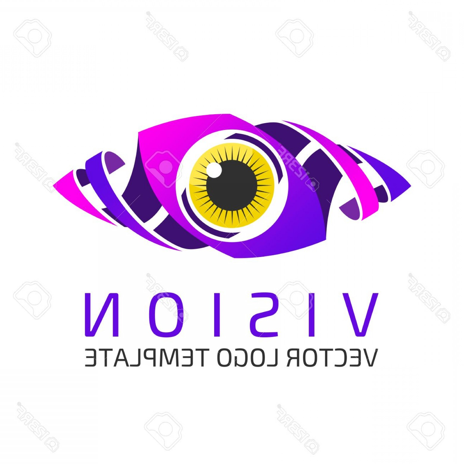 Eye Vector Logo: Photostock Vector Eye Logo Design Vector Template Colorful Media Icon Creative Vision Logotype Concept