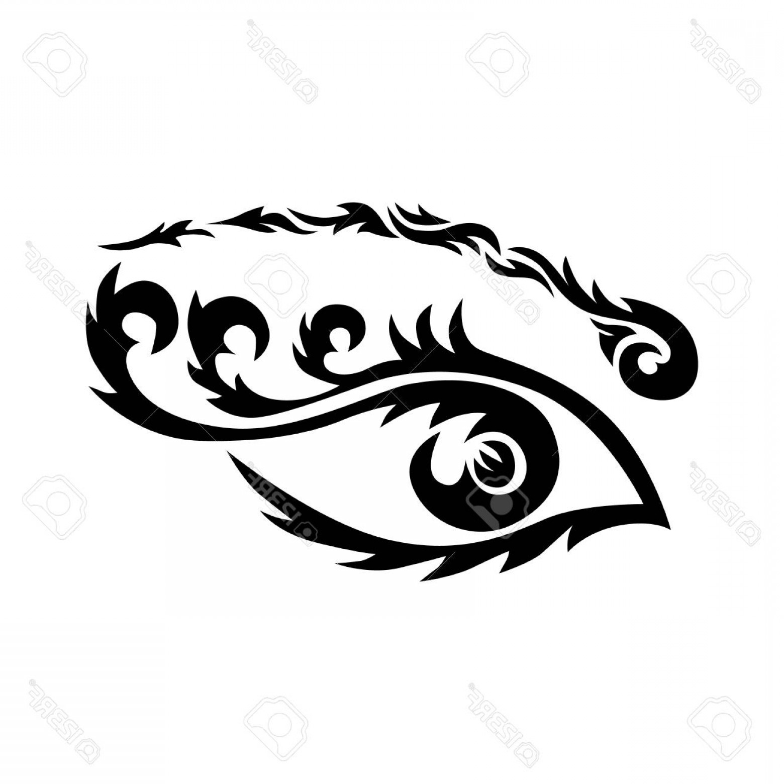 Eye Tatoo Vector: Photostock Vector Eye Tattoo Maori Tribal Tattoo In Polynesian Style Celtic Ornament In Traditional Medieval Style For