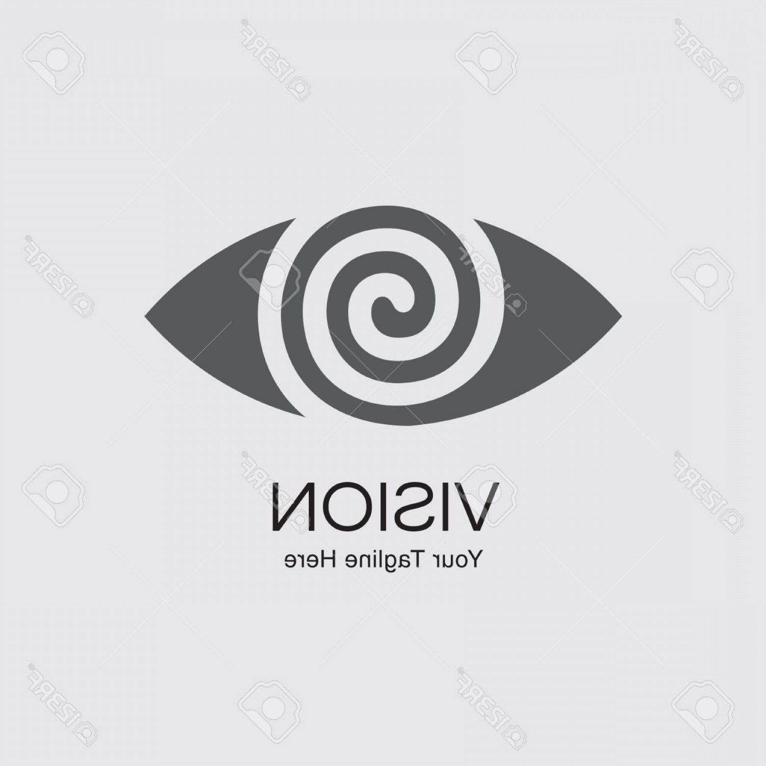 Eye Vector Logo: Photostock Vector Eye Vector Logo Design Template Modern Minimal Flat Design Style Vector Illustration