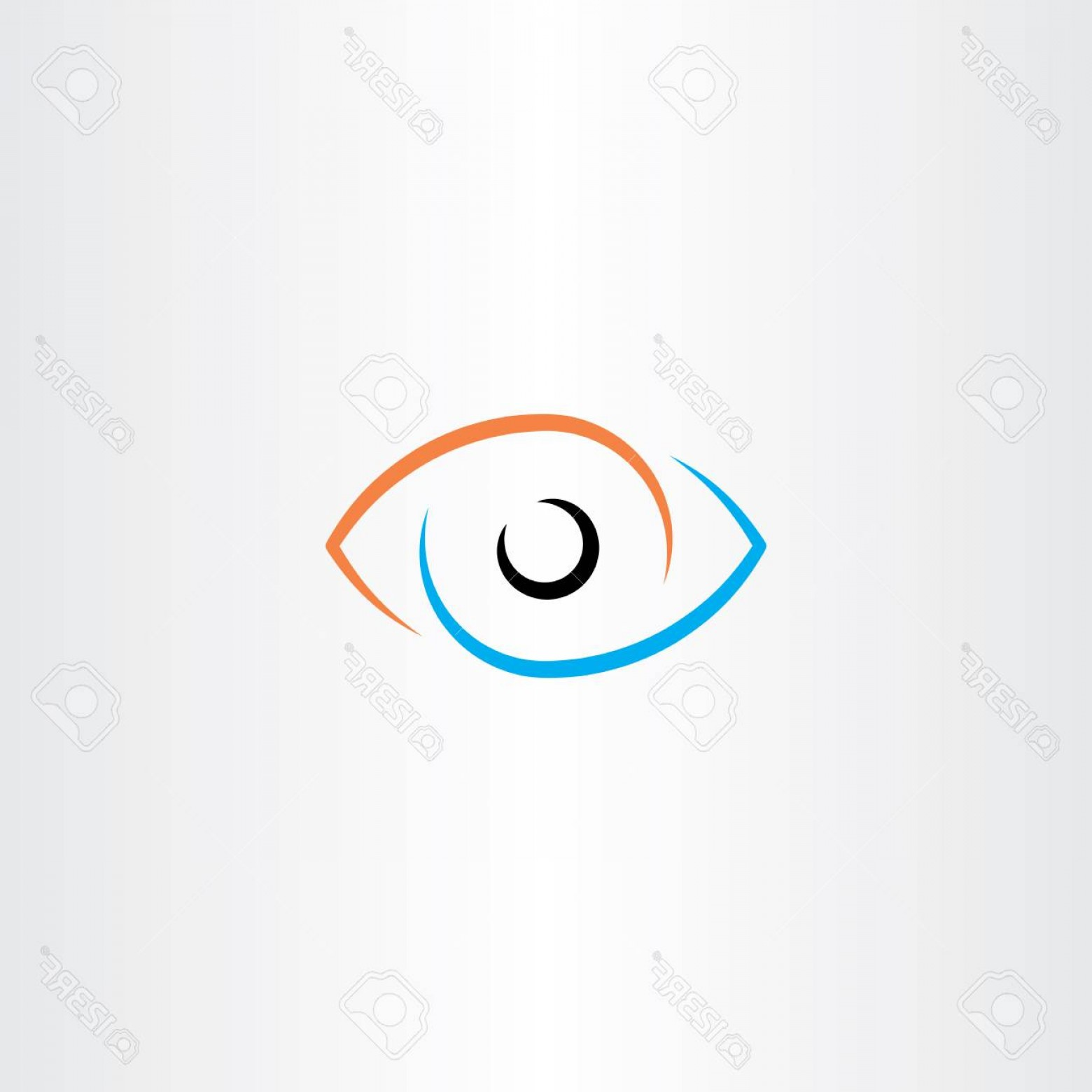 Eye Vector Logo: Photostock Vector Eye Vector Logo Sign Symbol Design