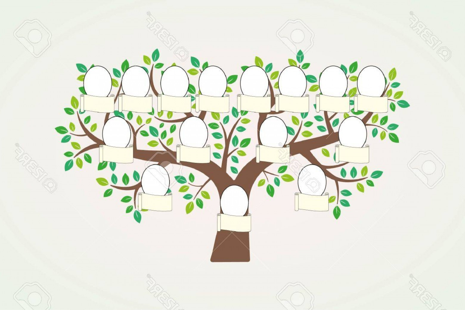 Nameplate Vector Graphics: Photostock Vector Family Tree And Nameplate