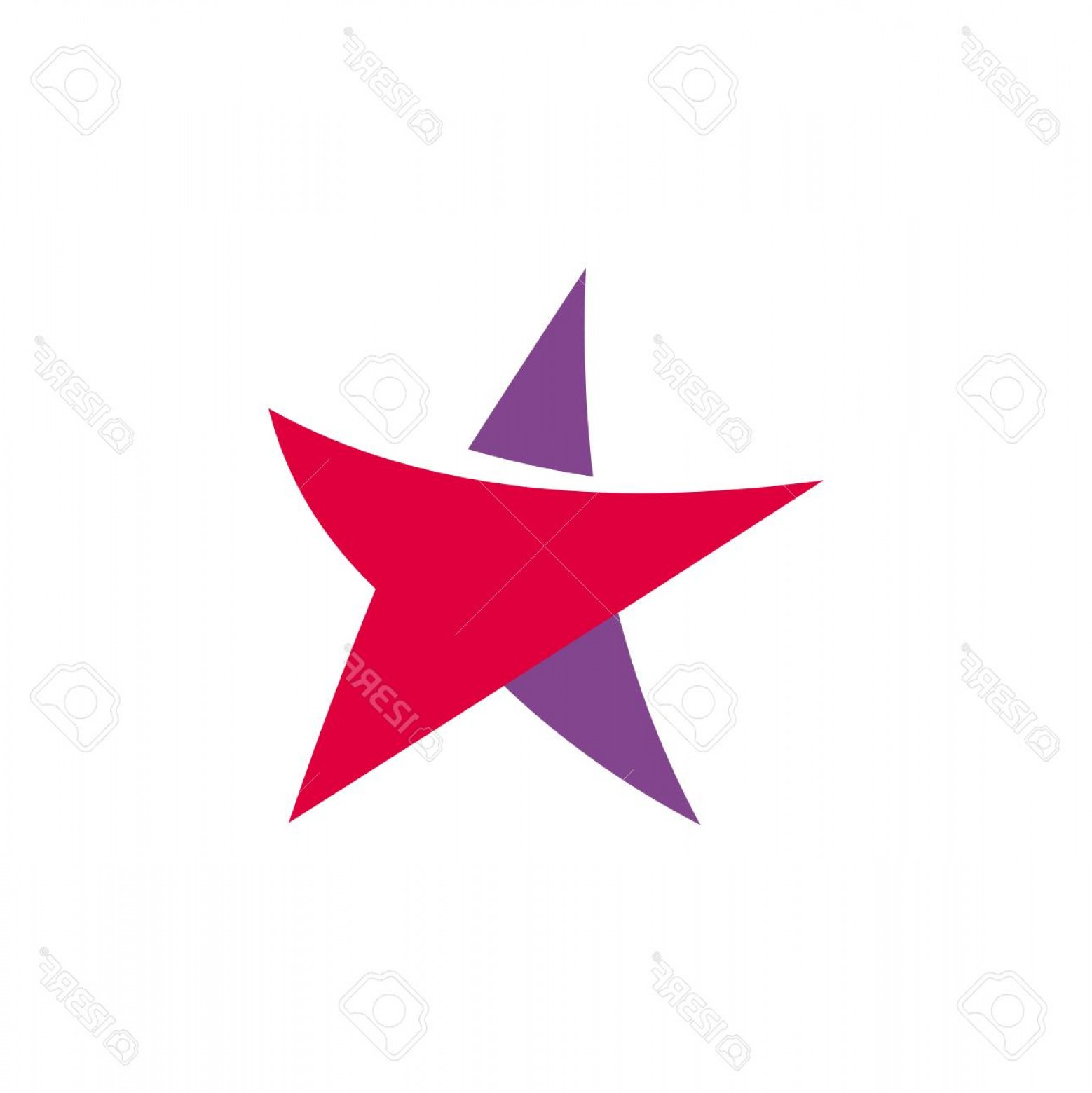 BBB Logo In Vector Form: Photostock Vector Fantastic Isolated Simple Flat Red And Violet Color Star Logo Of Unusual Shape Vector Logotype And I