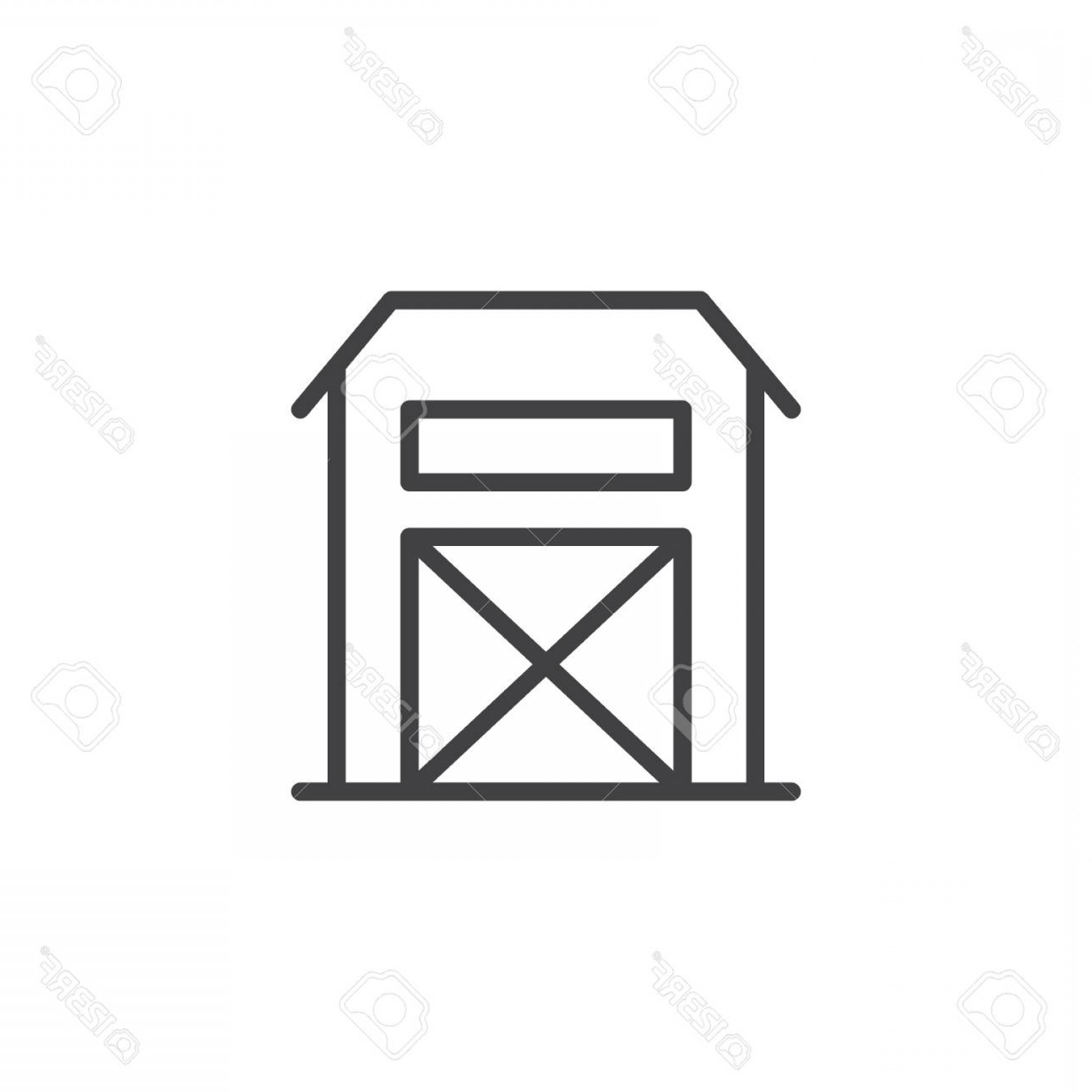 Barn Outline Vector: Photostock Vector Farm Barn Building Line Icon Outline Vector Sign Linear Style Pictogram Isolated On White Warehouse