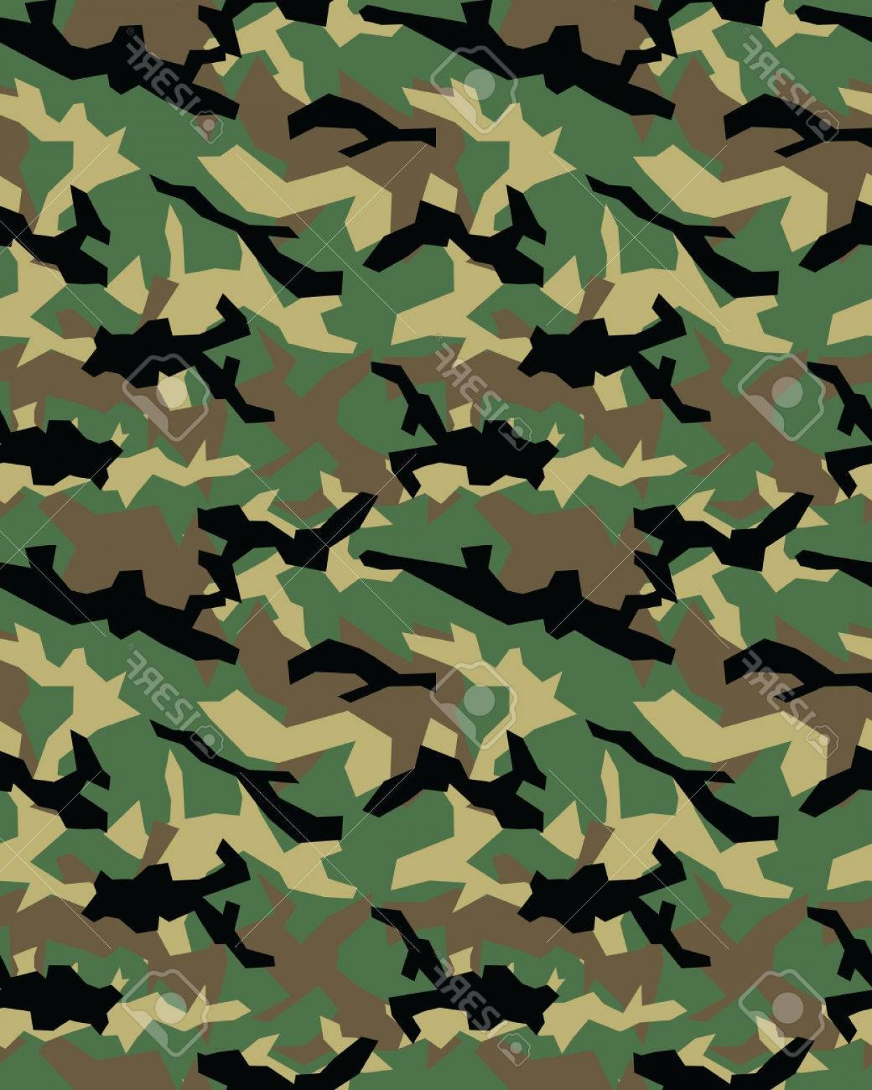 Army Camouflage Pattern Vector: Photostock Vector Fashionable Camouflage Pattern Military Print Seamless Illustration Wallpaper