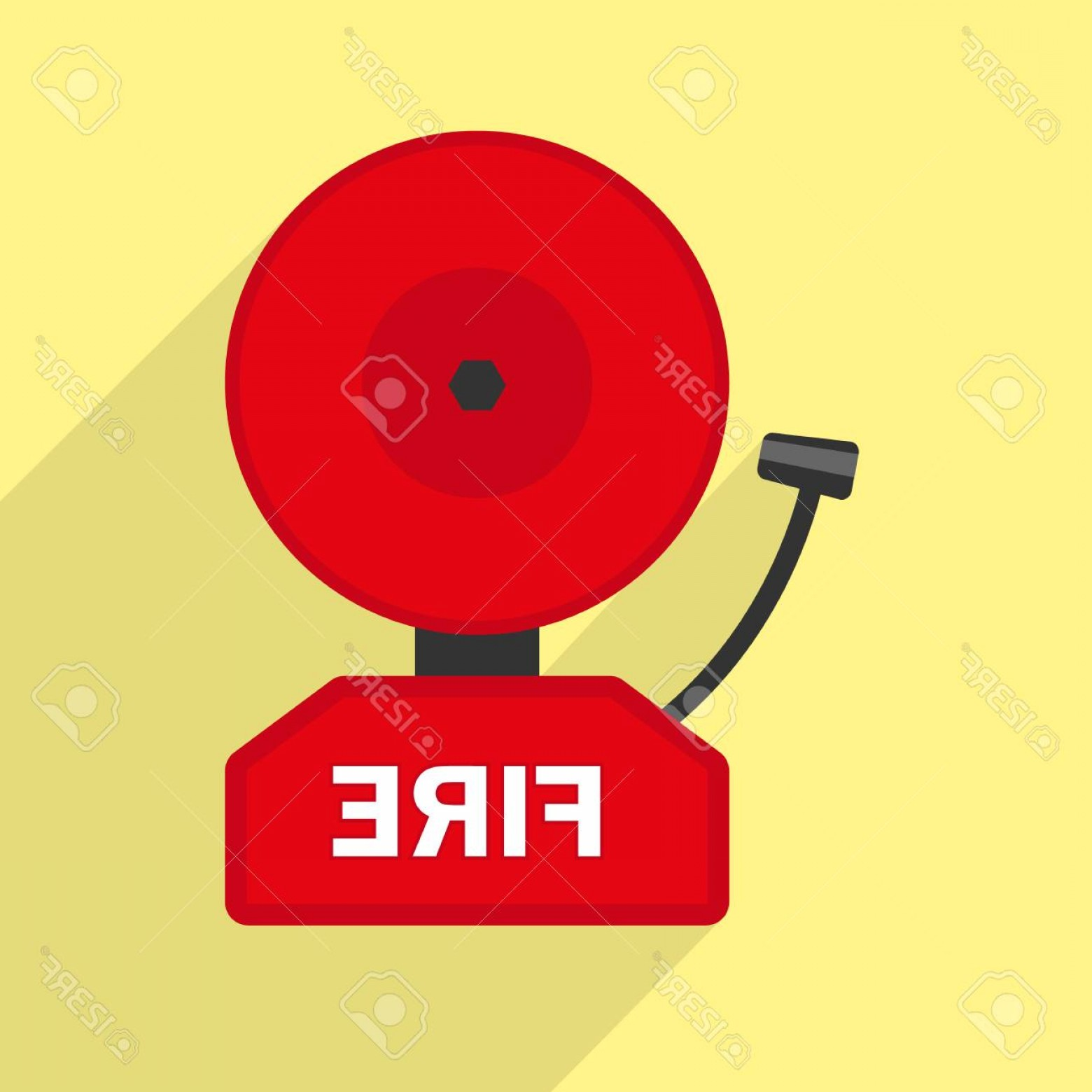 Fire Alarm Vector: Photostock Vector Fire Alarm Icon Flat Illustration Of Fire Alarm Vector Icon For Web Design